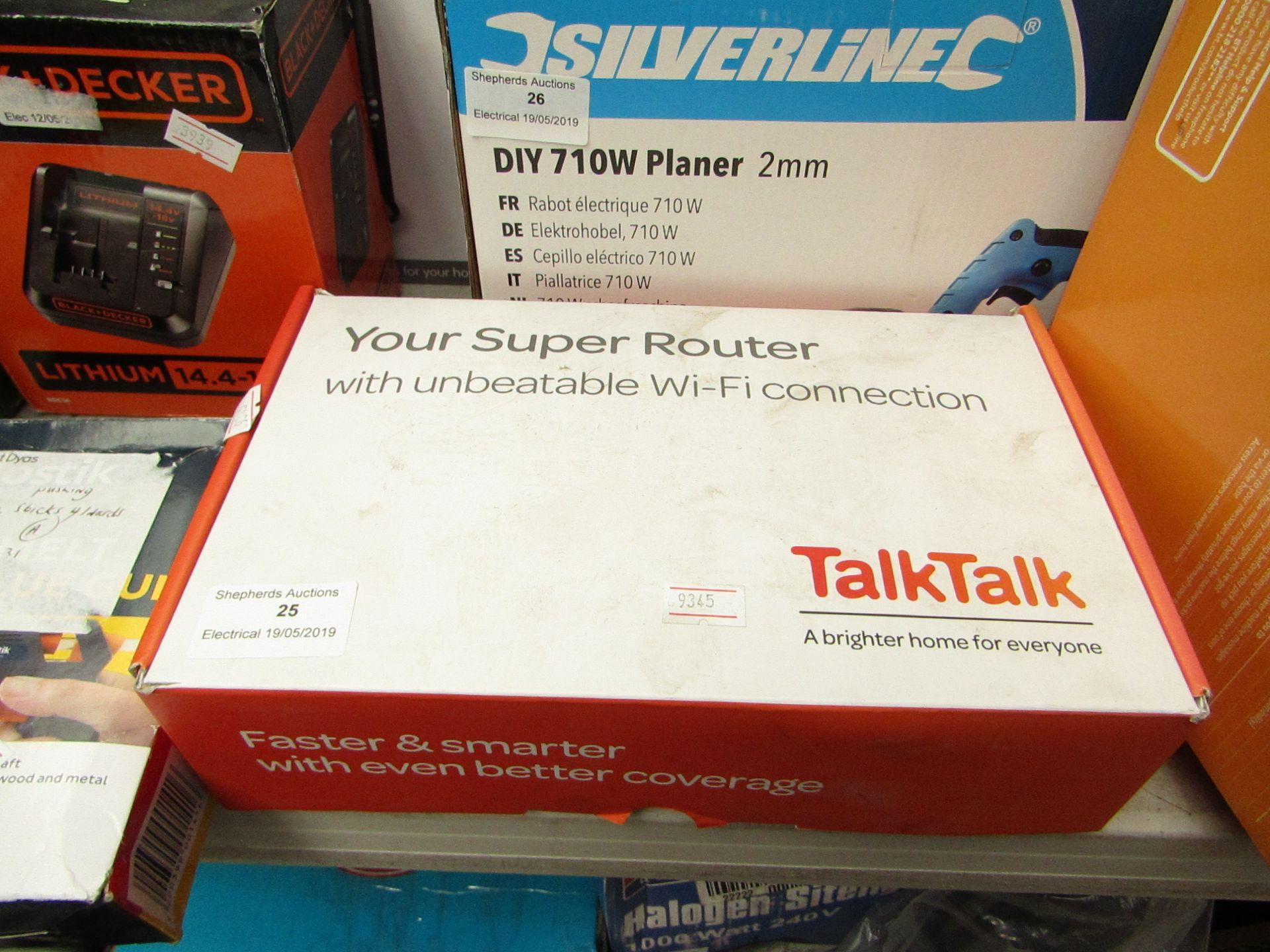 Lot 25 - Talk Talk Super Router, Boxed