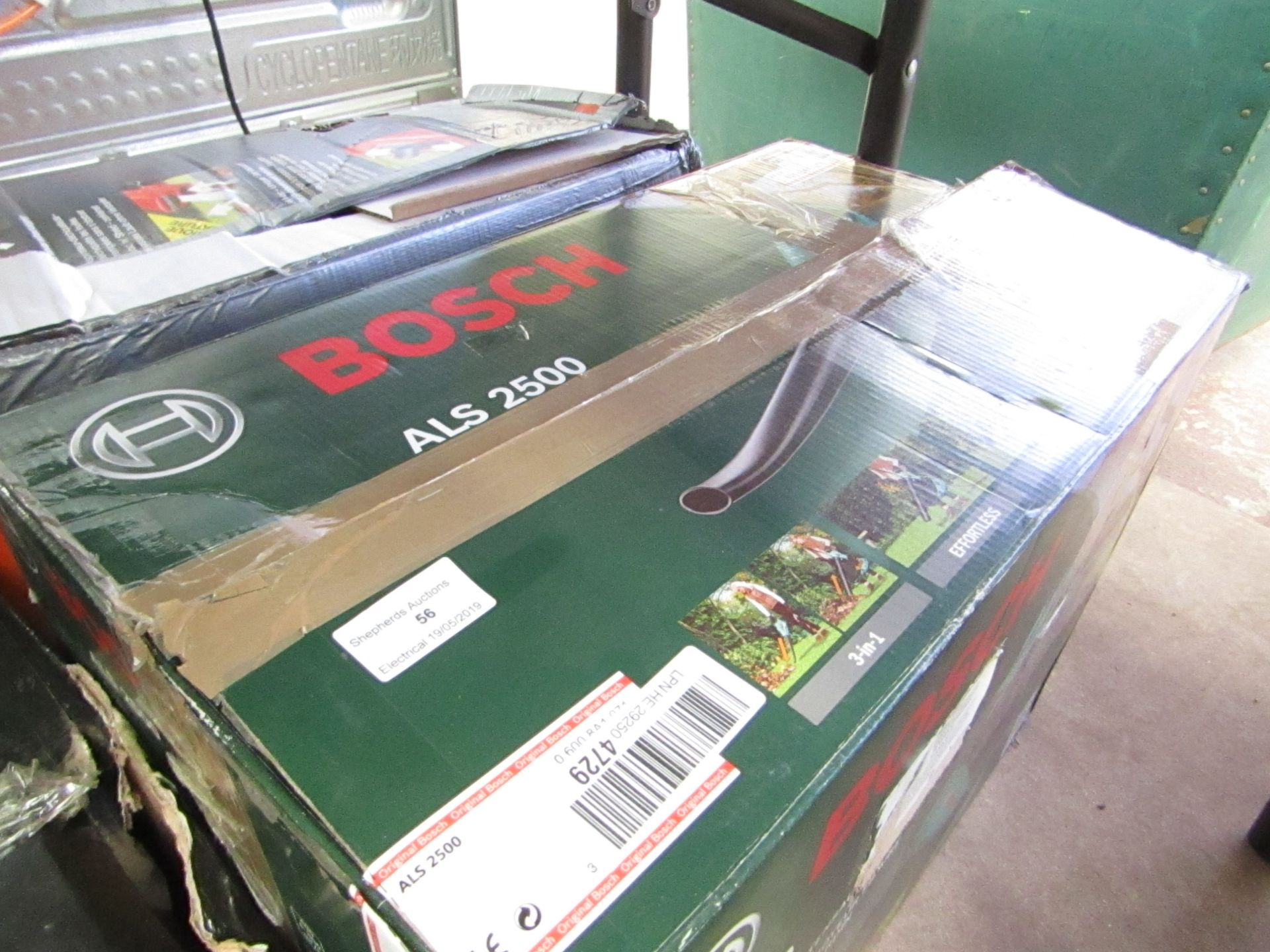 Lot 56 - Bosch ALS 2500 Corded Garden Vacuum, Tested working & Boxed