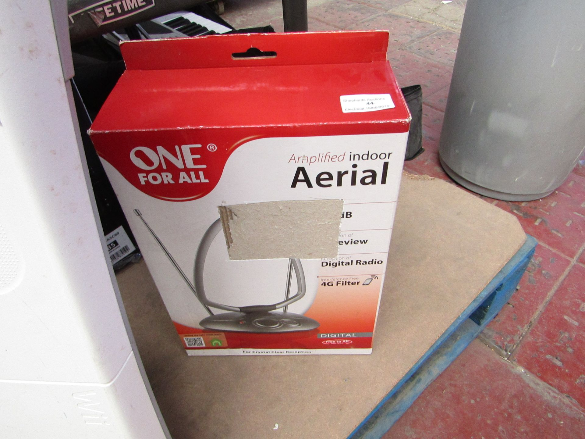 Lot 44 - One for all amplifies indorr areial. Unchecked & Boxed