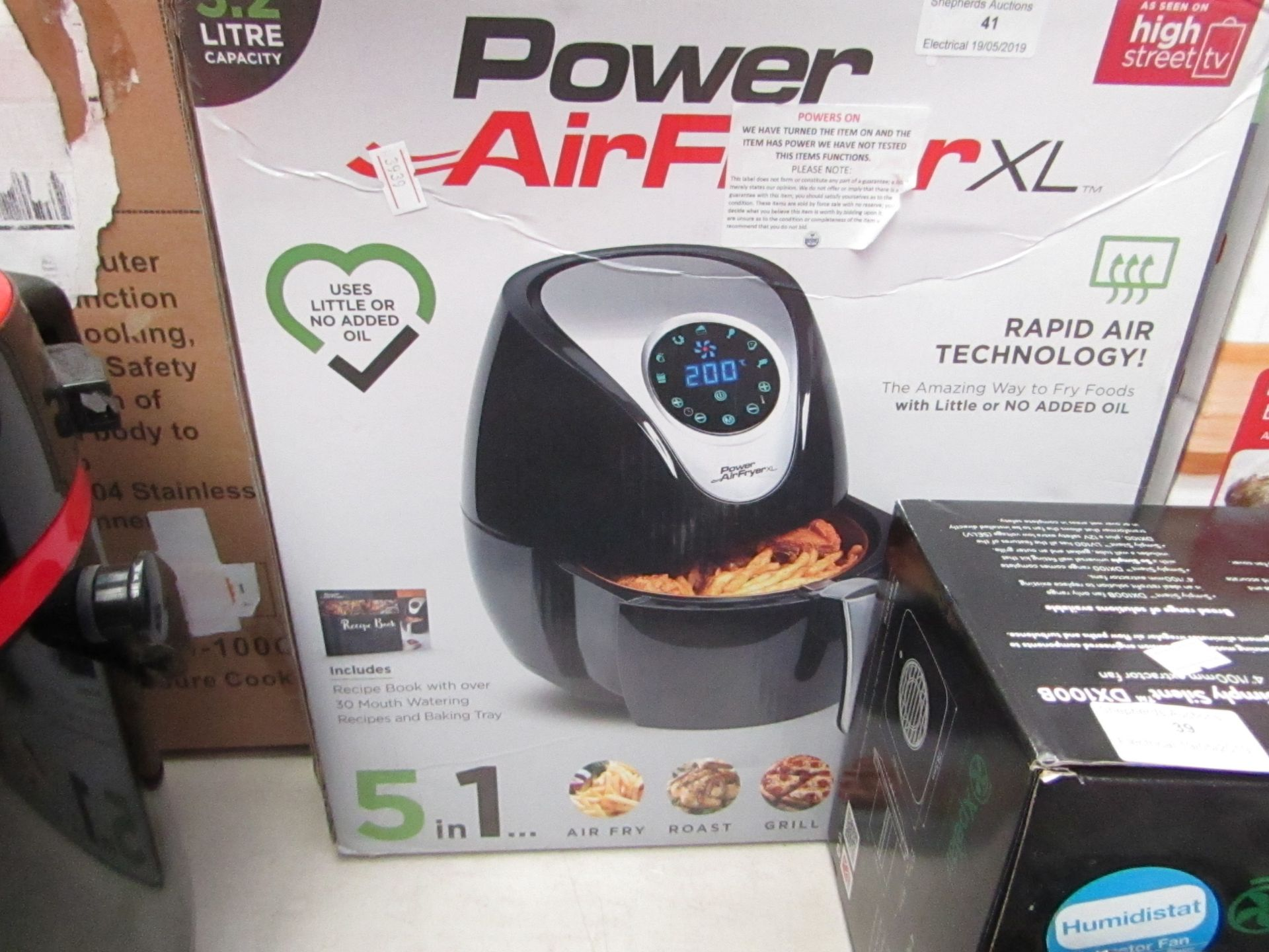 Lot 41 - Power Airfryer XL, Powers On & Boxed