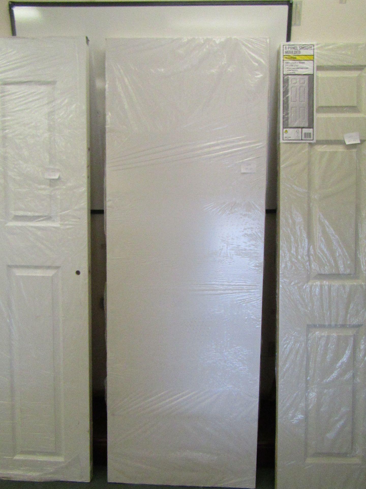 Lot 6 - Prem Door white smooth 30 min (FD30) fire door 686mm wide, unused