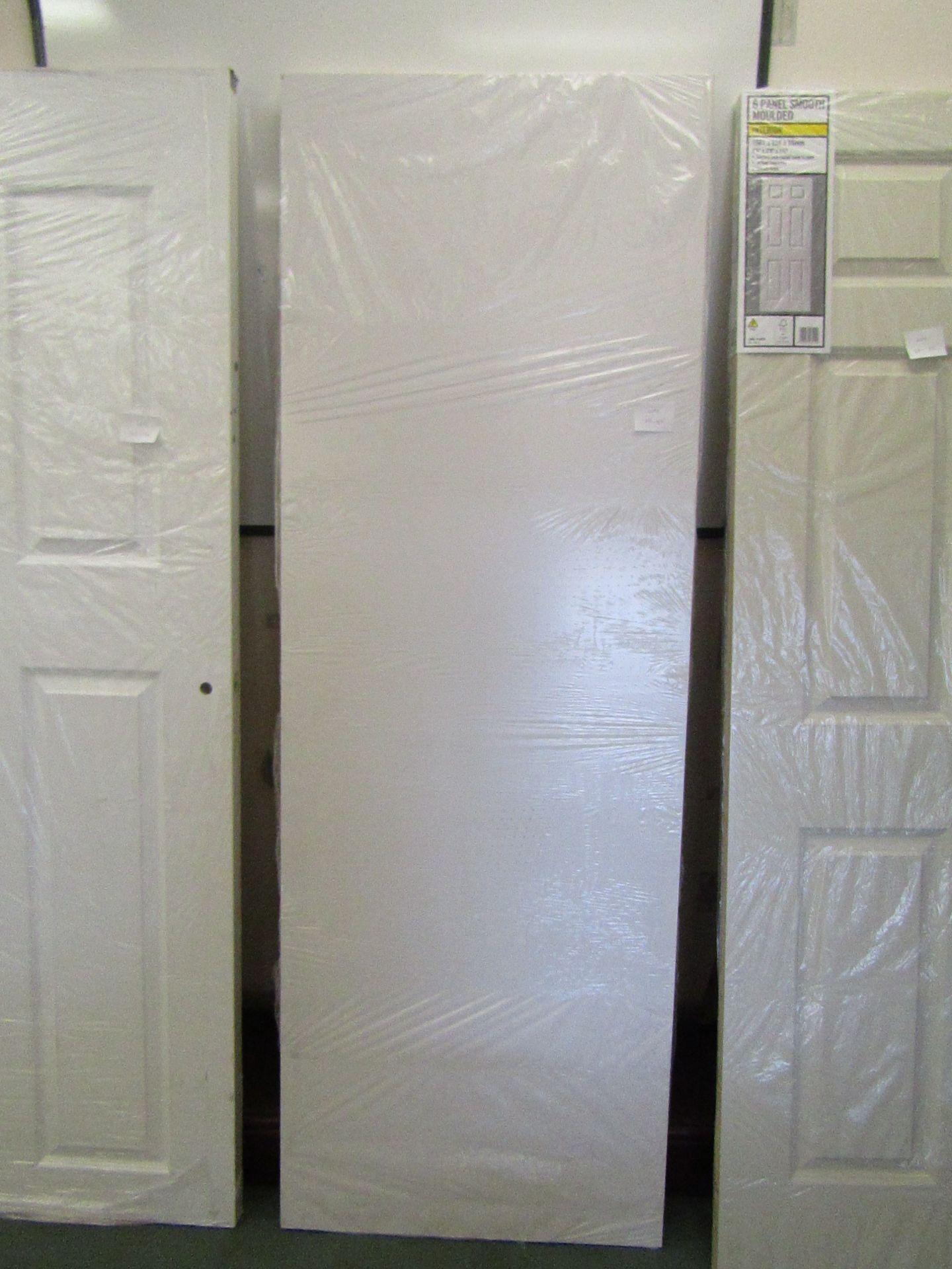 Lot 20 - Prem Door white smooth 30 min (FD30) fire door 686mm wide, unused