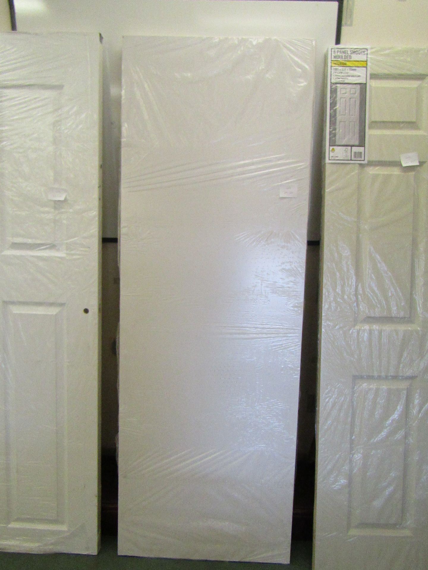 Lot 38 - Prem Door white smooth 30 min (FD30) fire door 686mm wide, unused
