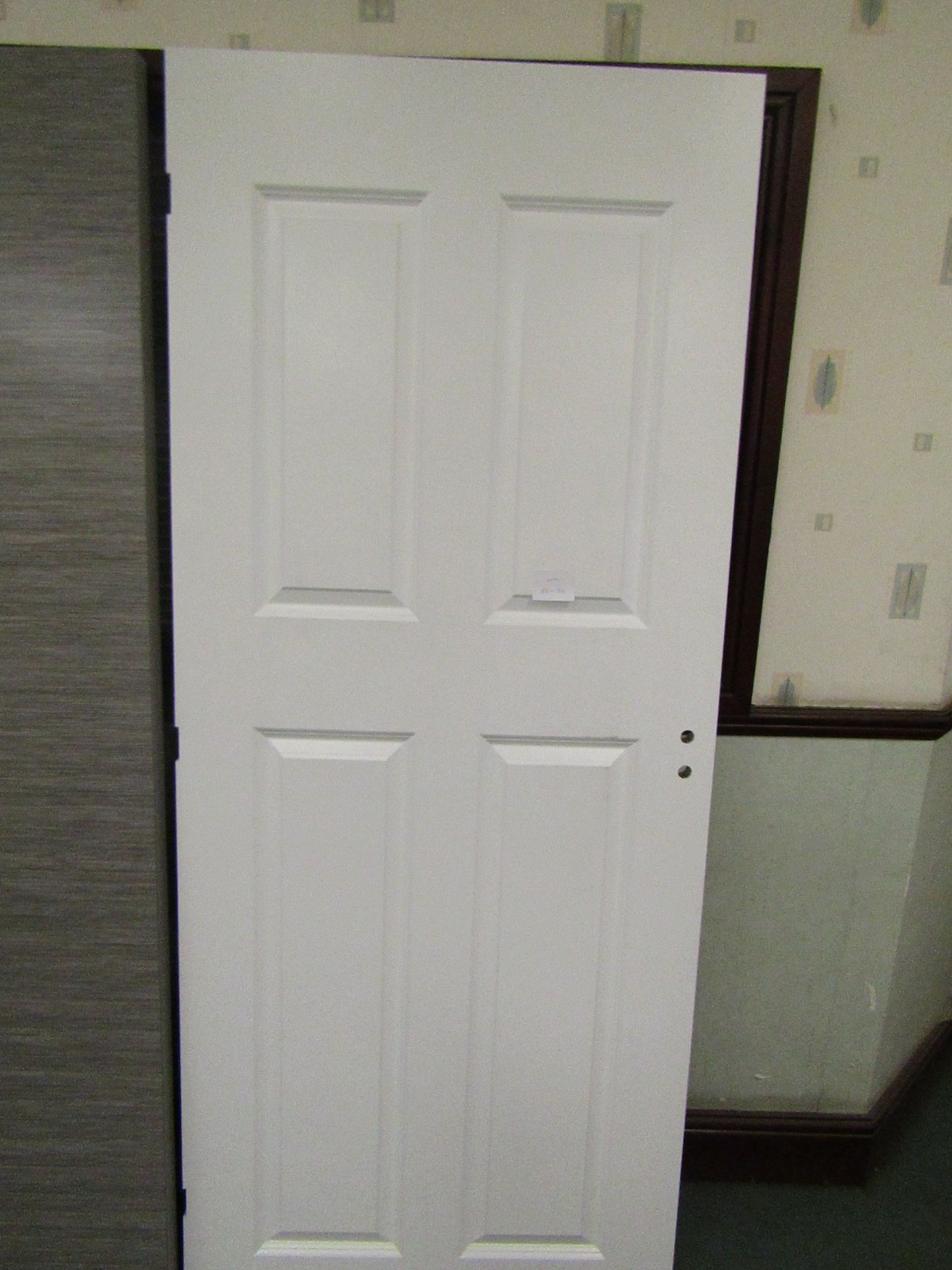 Lot 46 - Premdoor 4 Panel Smooth interior door 838mm wide, unused