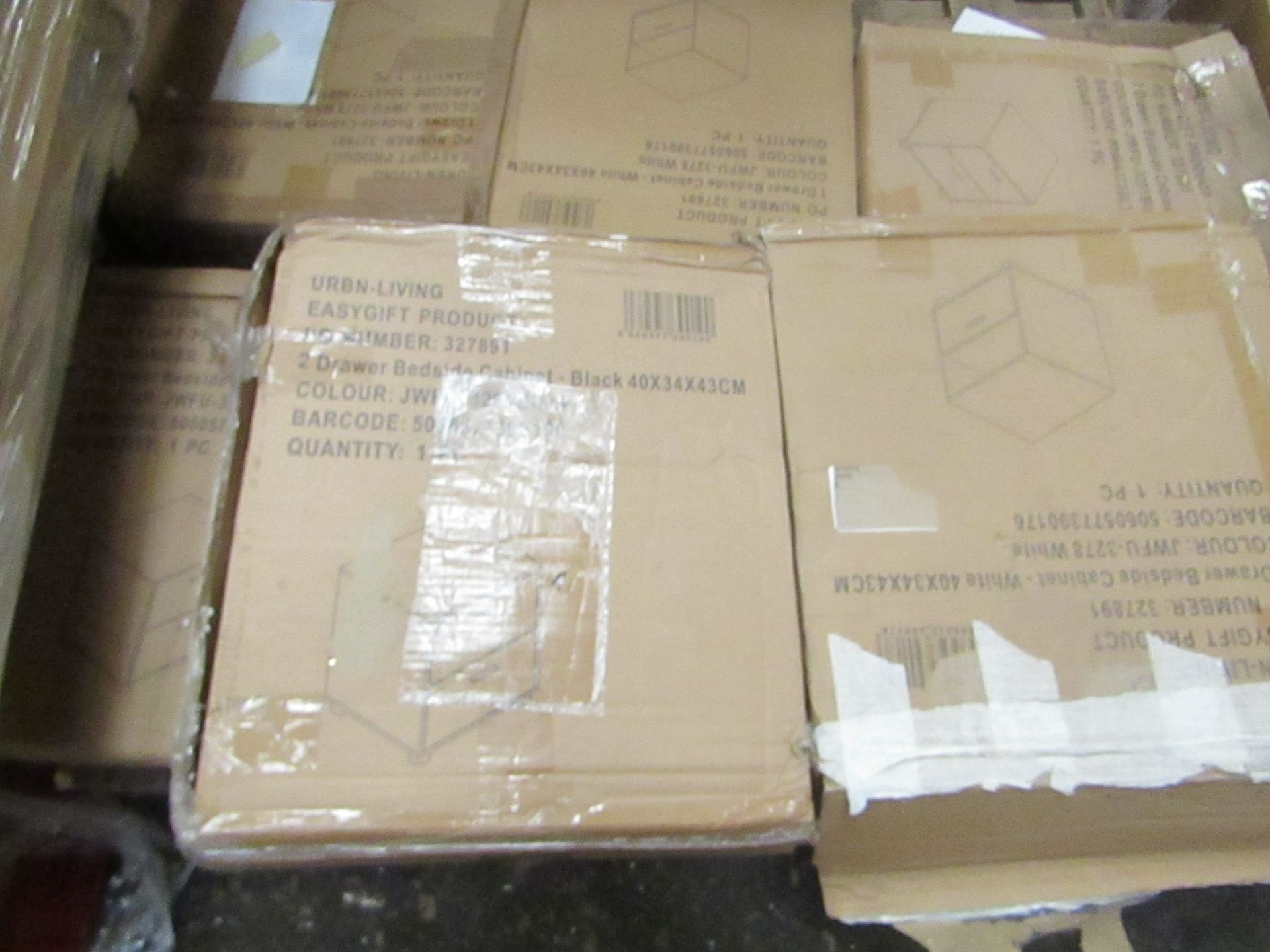 Lot 11 - 3x Pallets of Flat pack Furniture, some loose and some still boxed, most looks to be shelving units