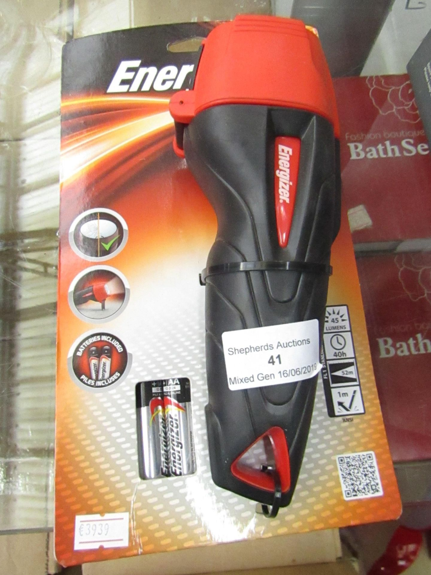 Lot 41 - Energizer Impact Rubber professional LED torch, new in packaging