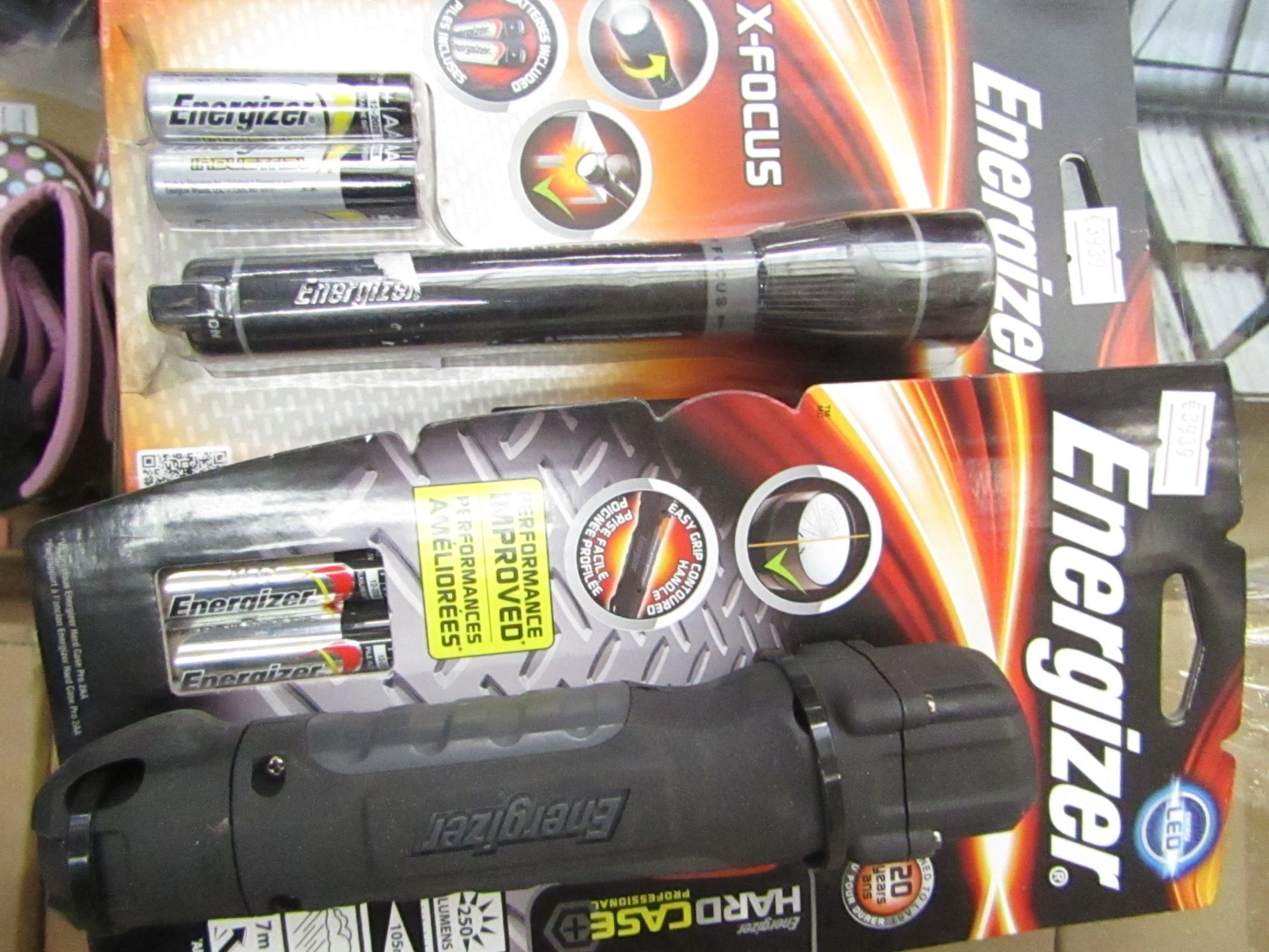 Lot 46 - 2 items being 1 x Energizer Hard Case professional LED torch & 1 x Energizer X Focus Torch both new