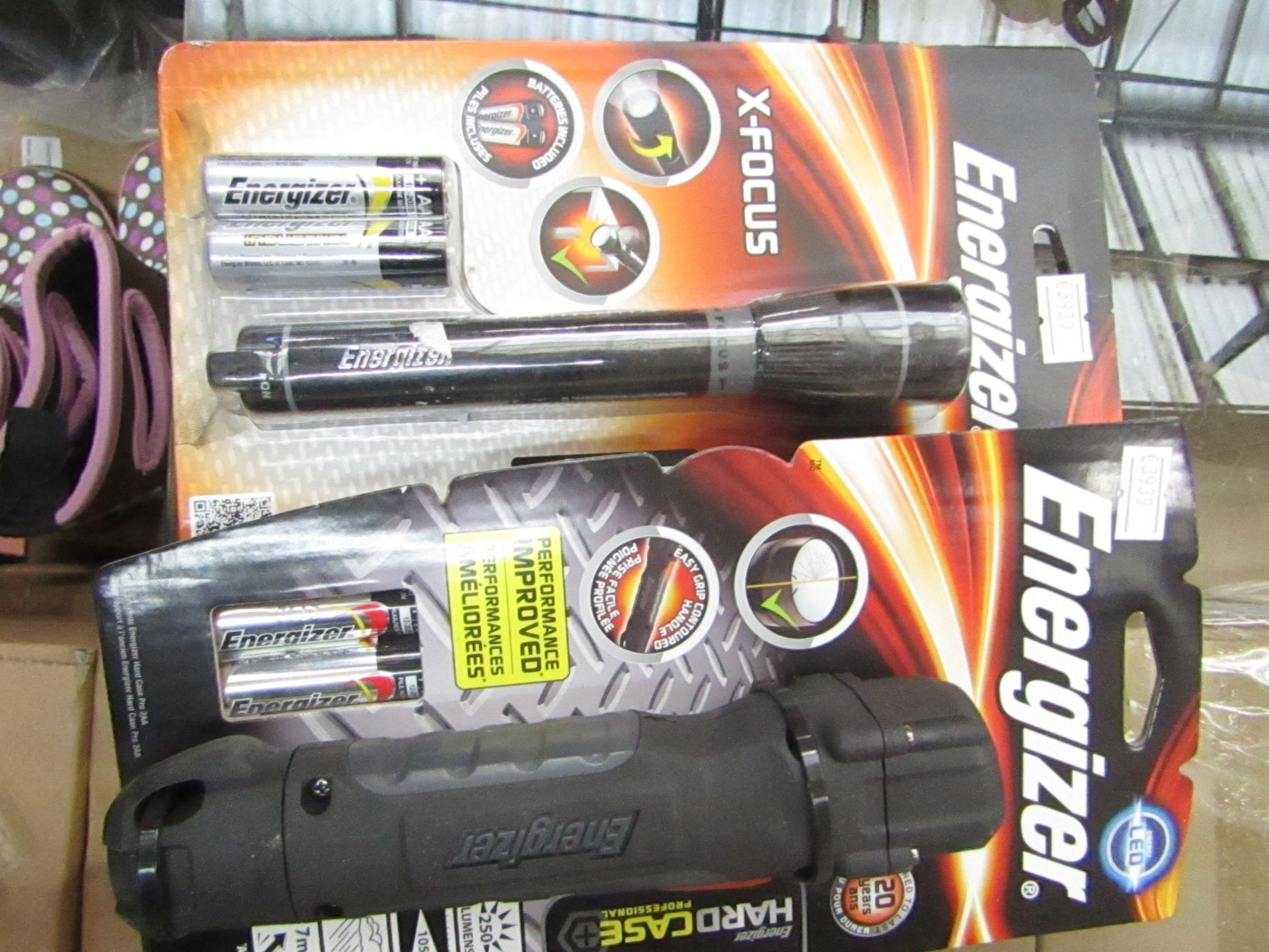 Lot 45 - 2 items being 1 x Energizer Hard Case professional LED torch & 1 x Energizer X Focus Torch both new