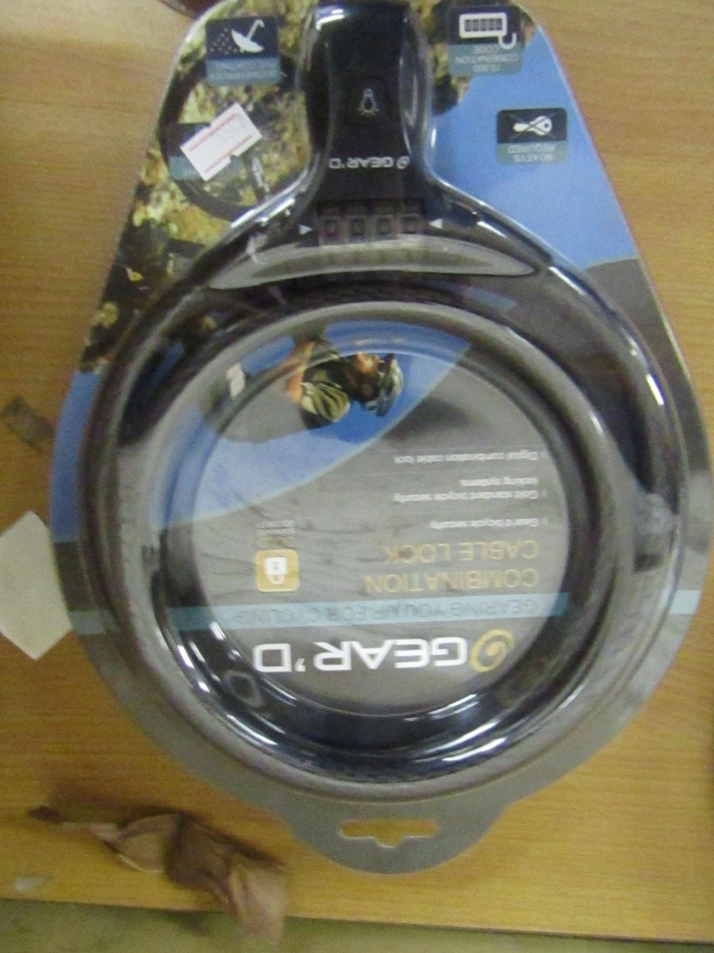 Lot 23 - 2 x Geared Combination Cable locks new & packaged