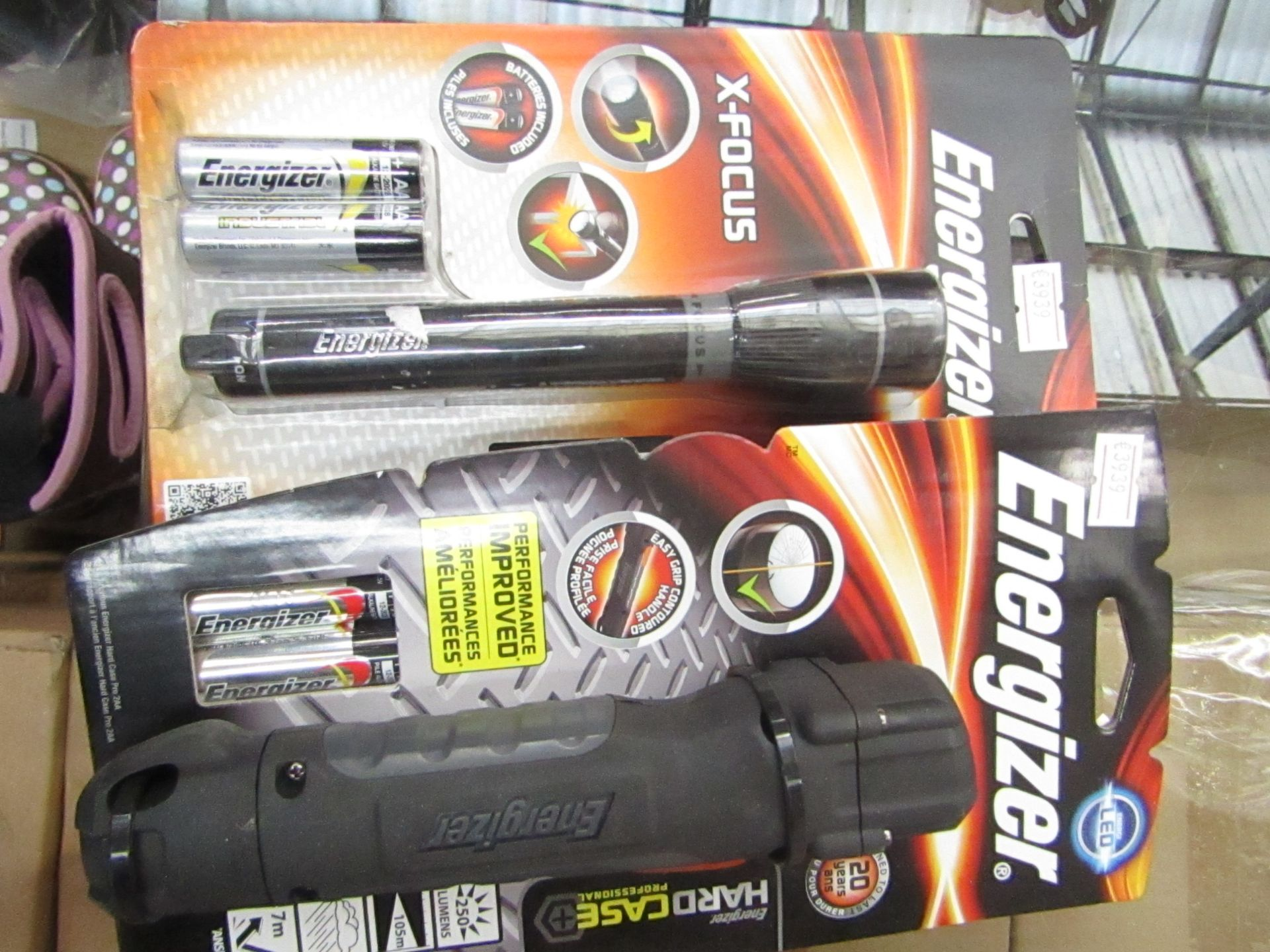 Lot 44 - 2 items being 1 x Energizer Hard Case professional LED torch & 1 x Energizer X Focus Torch both new