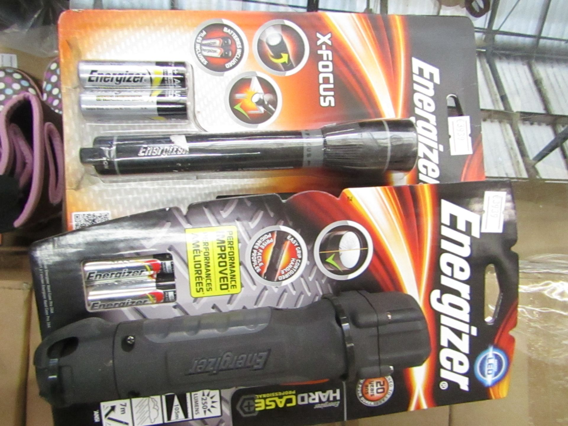Lot 43 - 2 items being 1 x Energizer Hard Case professional LED torch & 1 x Energizer X Focus Torch both new