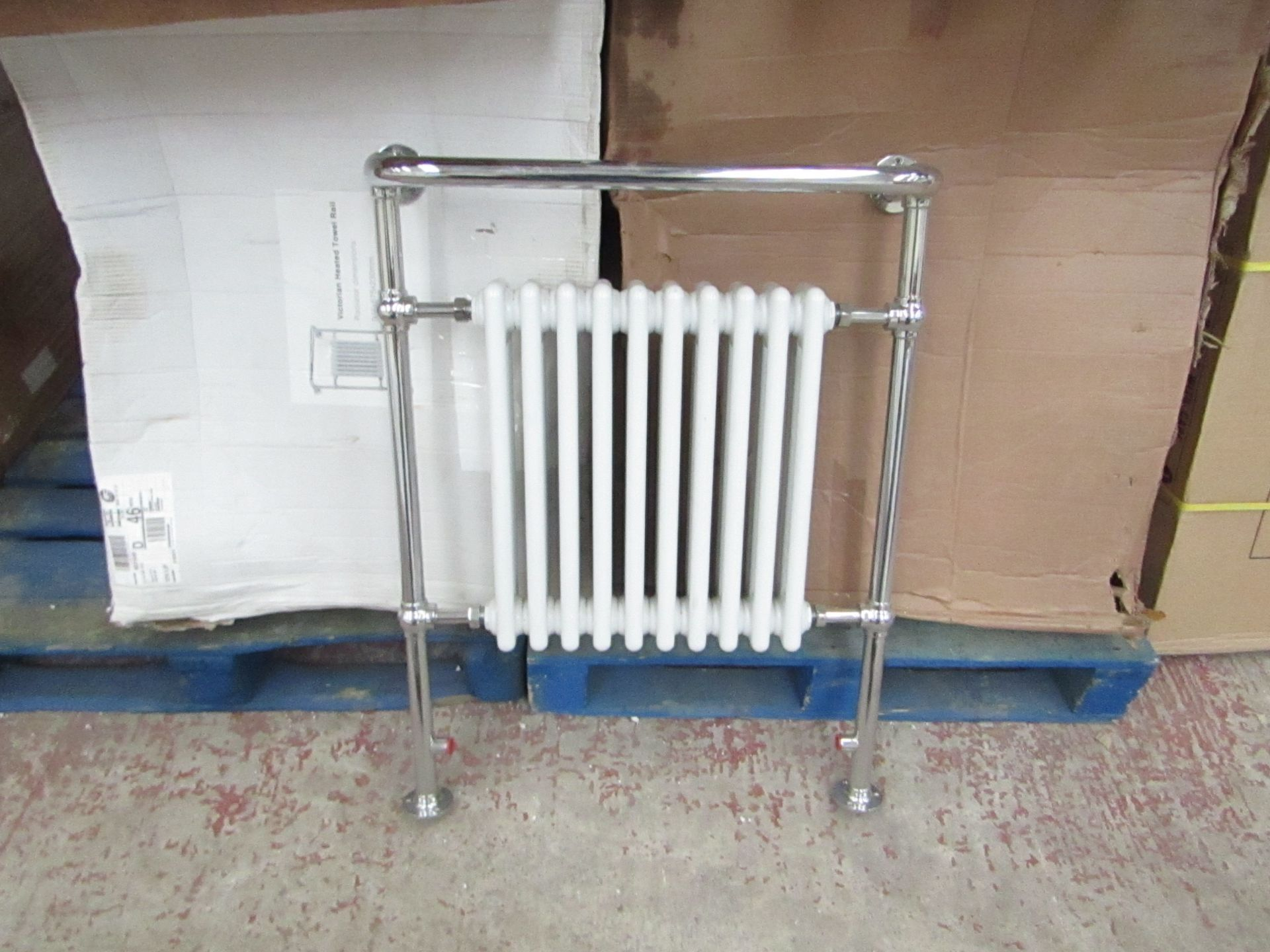 Lot 5 - Old London 10 section traditional radiator, unchecked and boxed, 70cm W x 93cm T x 24cm D