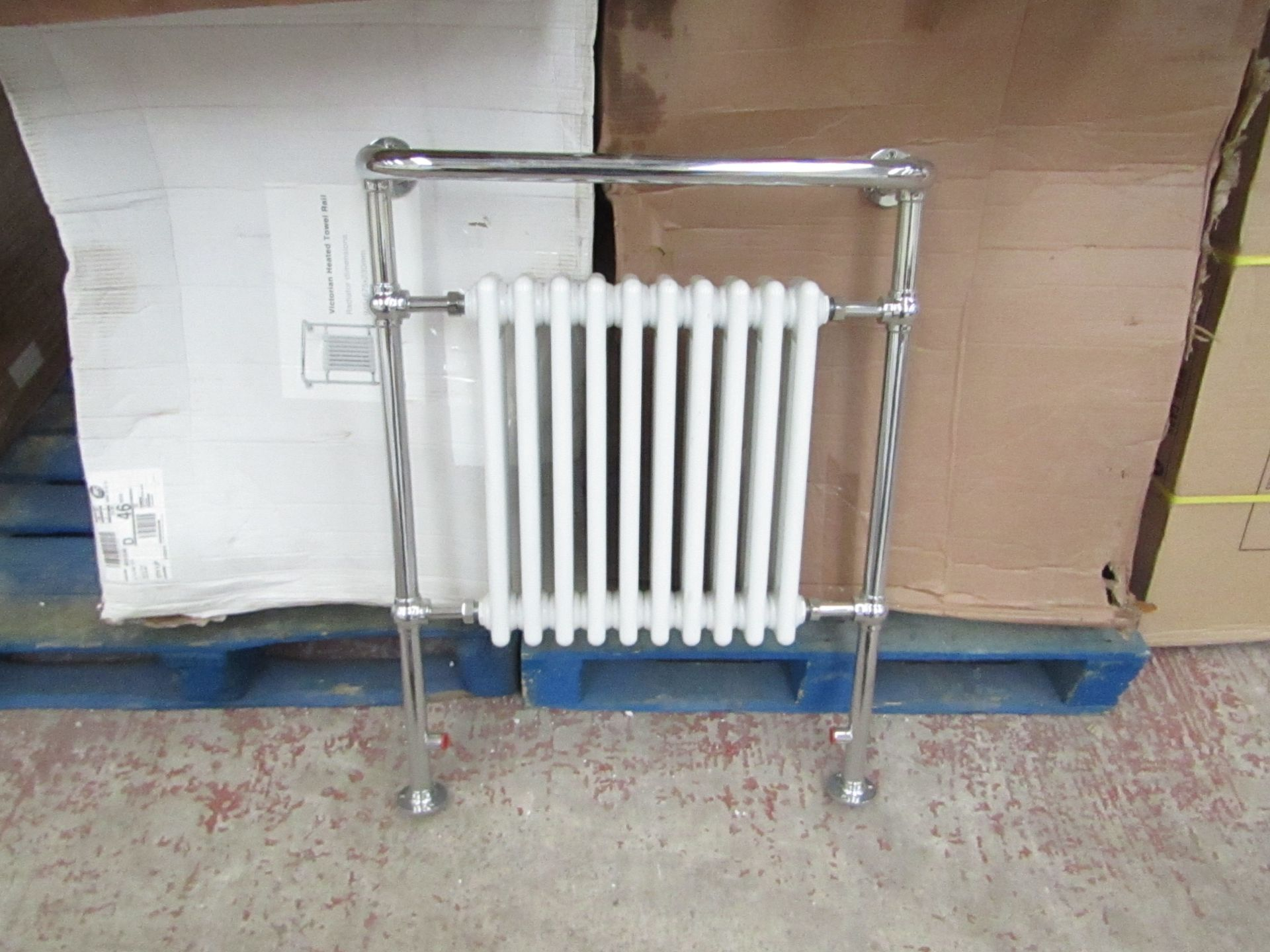 Lot 4 - Old London 10 section traditional radiator, unchecked and boxed, 70cm W x 93cm T x 24cm D
