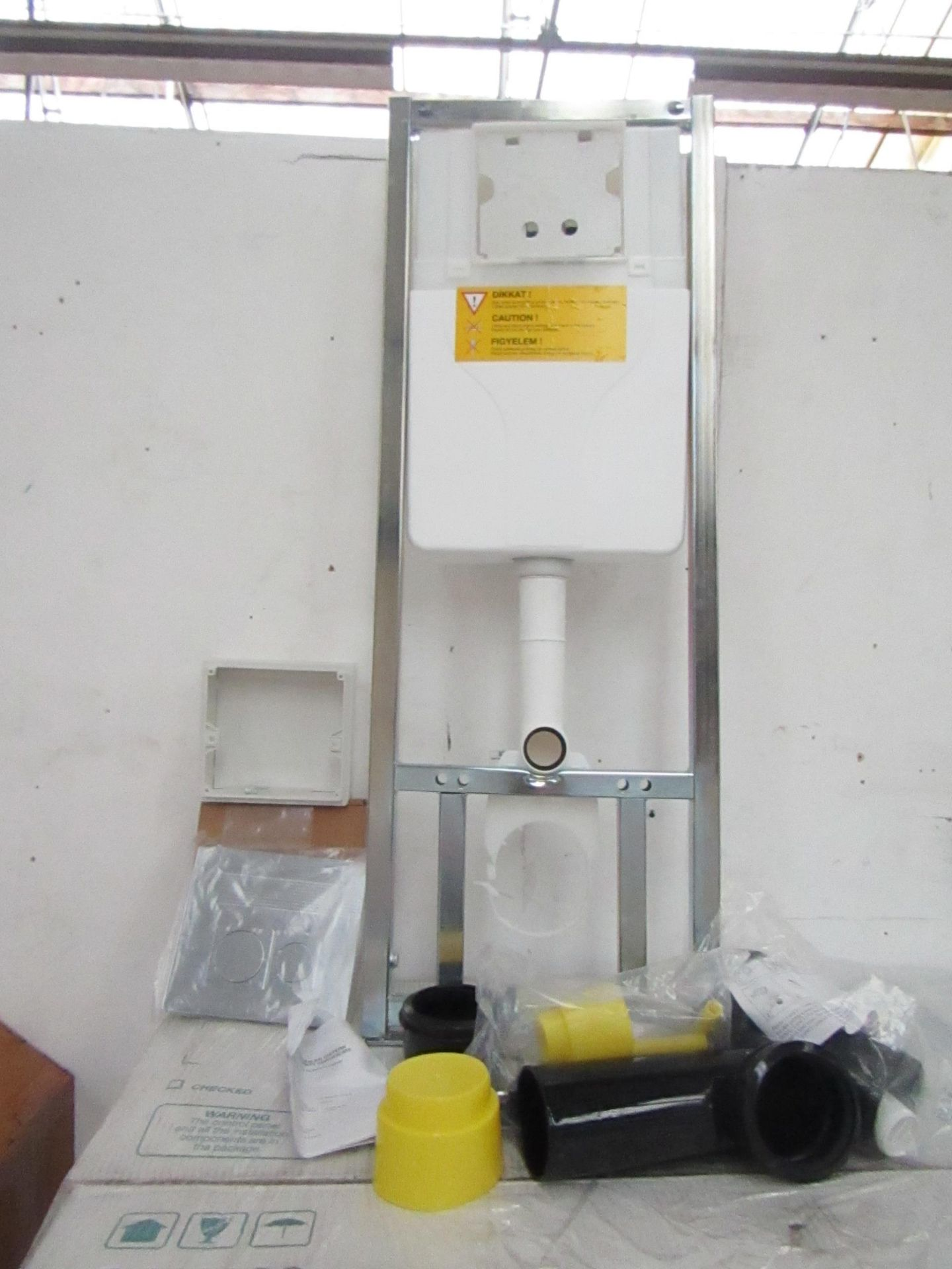 Lot 20 - SAN100 Wall or Floor mounted toilet frame with concealed cistern and dual flush plate included,