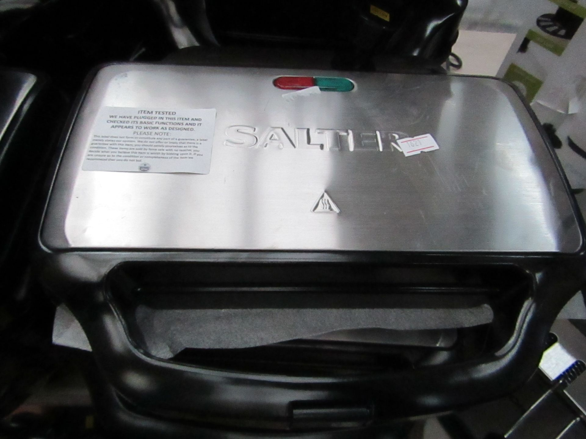 Lot 14 - Salter 2 portion sandwich maker, tested working.