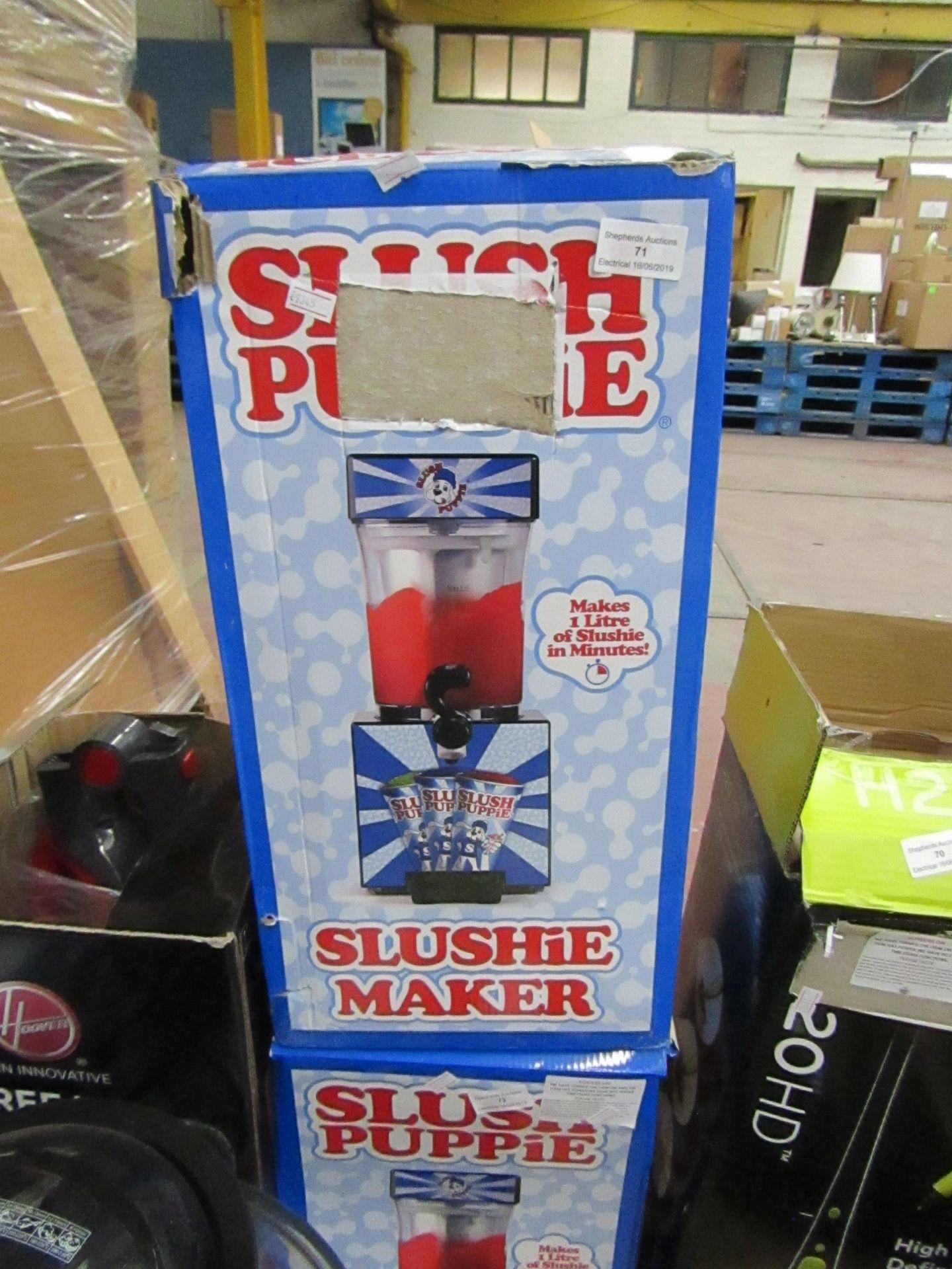 Lot 71 - Slush puppie slushie maker, tested working and boxed.