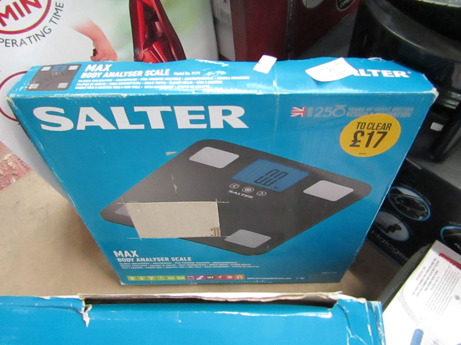 Lot 77 - Salter Max body analyser scales, untested and boxed.