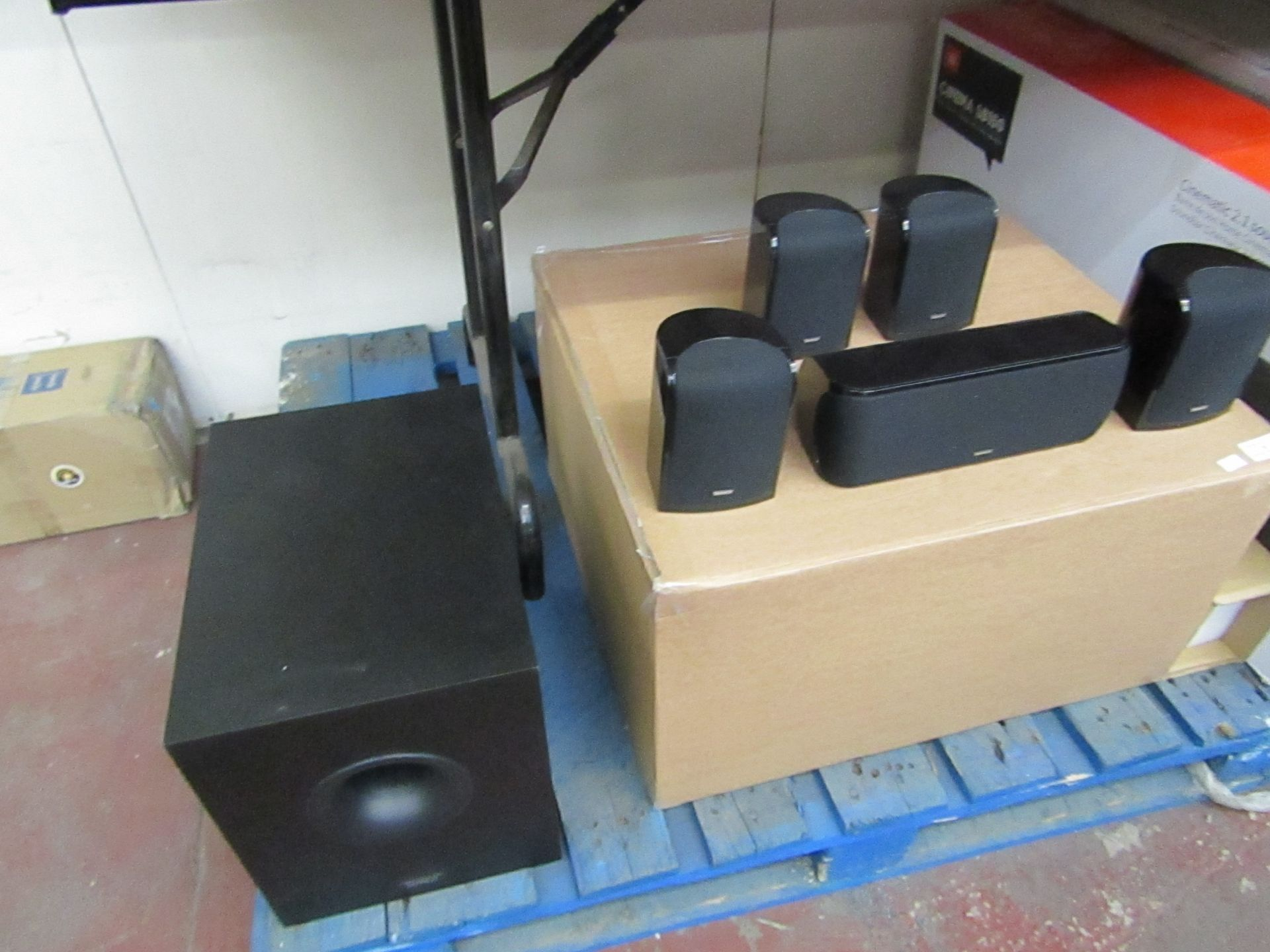 Lot 90 - Tannoy 5.1 Speaker Surround sound system boxed £119.95