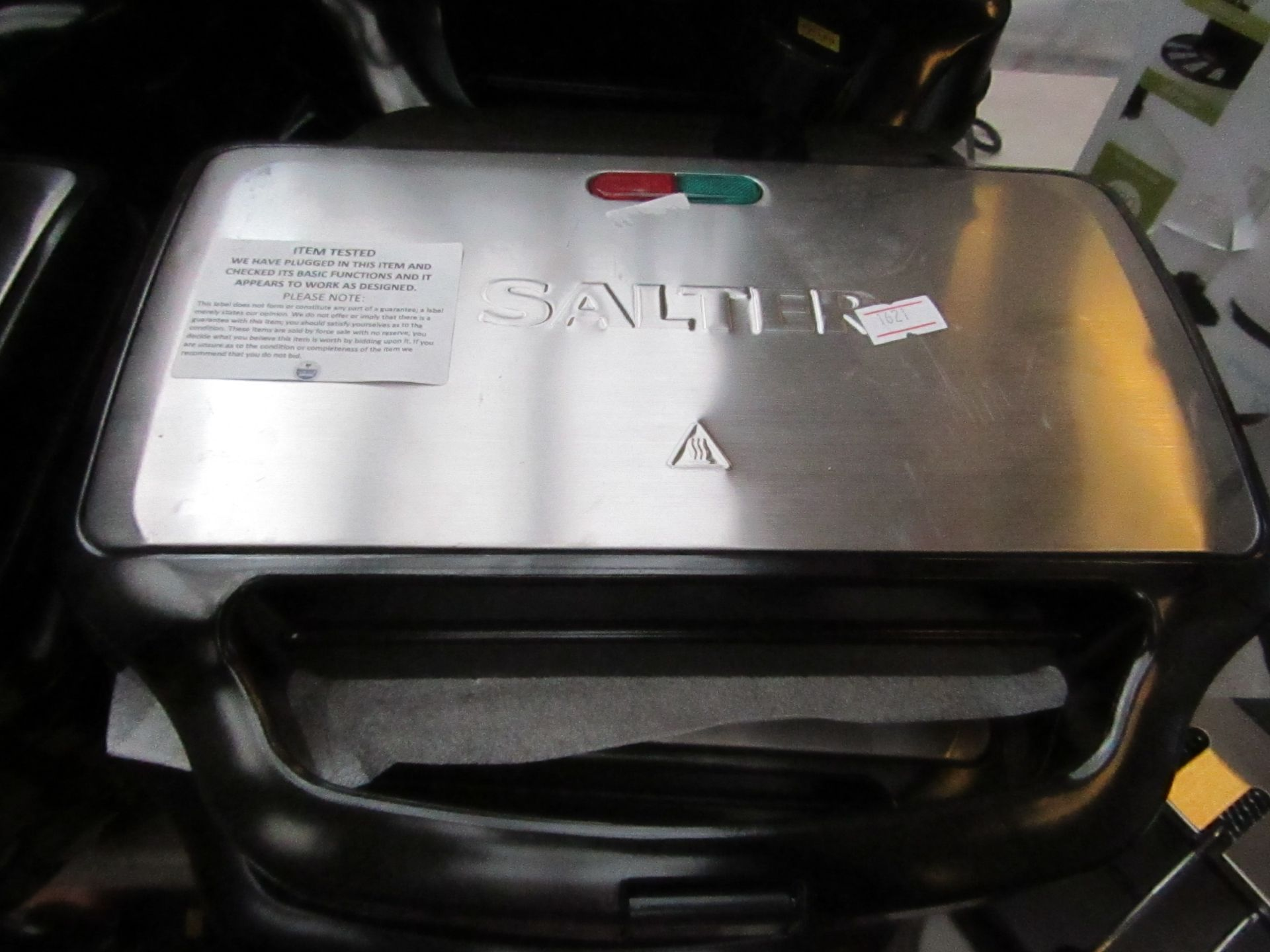 Lot 12 - Salter 2 portion sandwich maker, tested working.