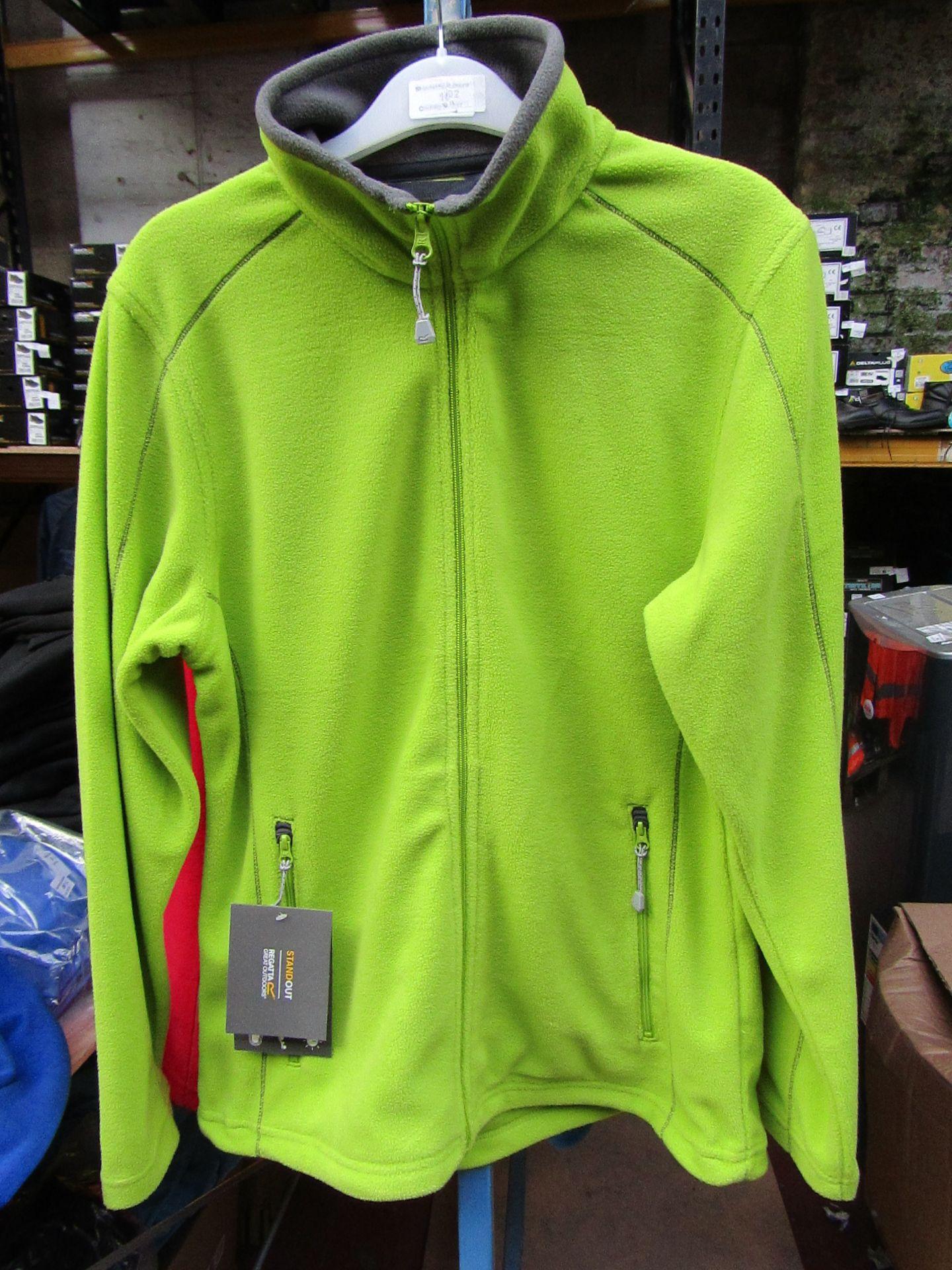 Lot 18 - Ladies Regatta Professional Fleece Key Lime / Smoke. Size 10. new in Packaging