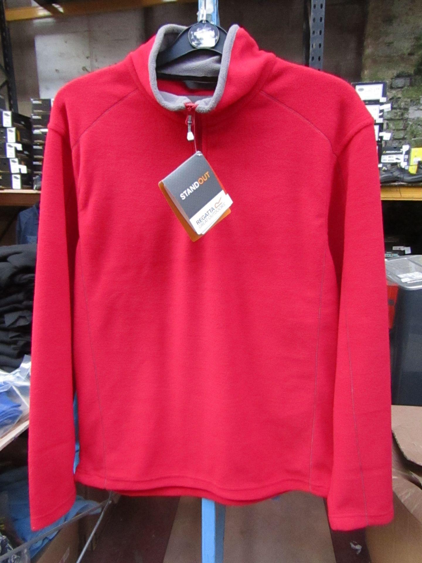 Lot 13 - Men's Regatta Professional Fleece Red / Smoke. Size S. new in Packaging