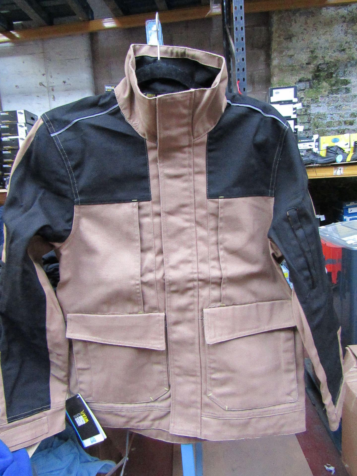 Lot 57 - Men's Regatta Workline Jacket in Mid Brown and Black. Size S. new in packaging
