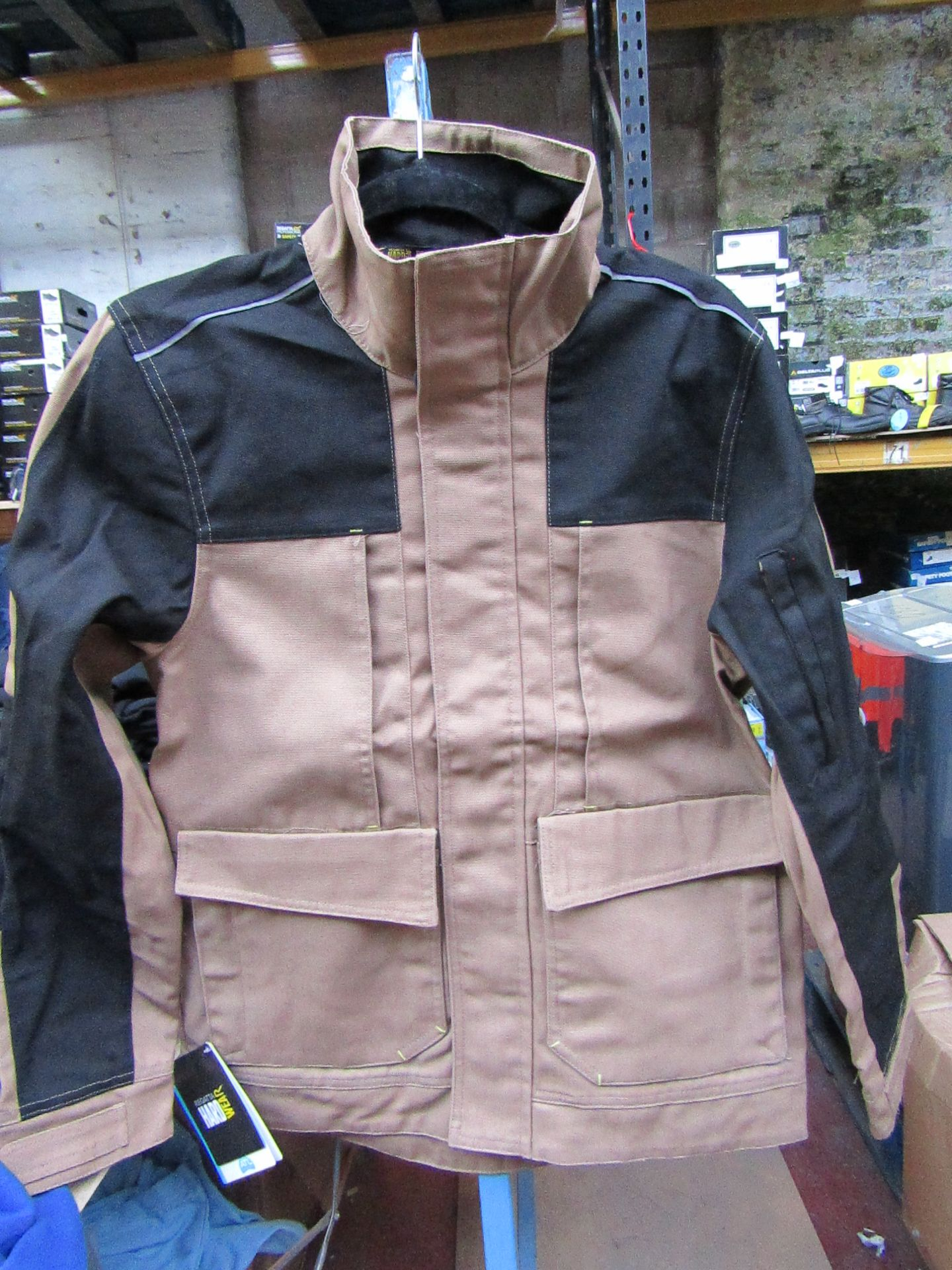 Lot 55 - Men's Regatta Workline Jacket in Mid Brown and Black. Size S. new in packaging