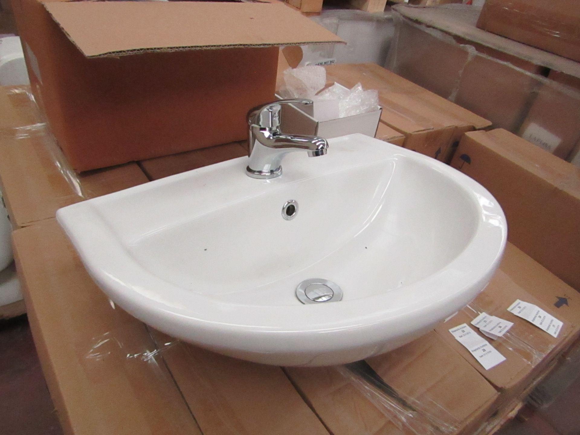Lotto 29 - Lecico Remini 50cm 1 tap hole sink, new