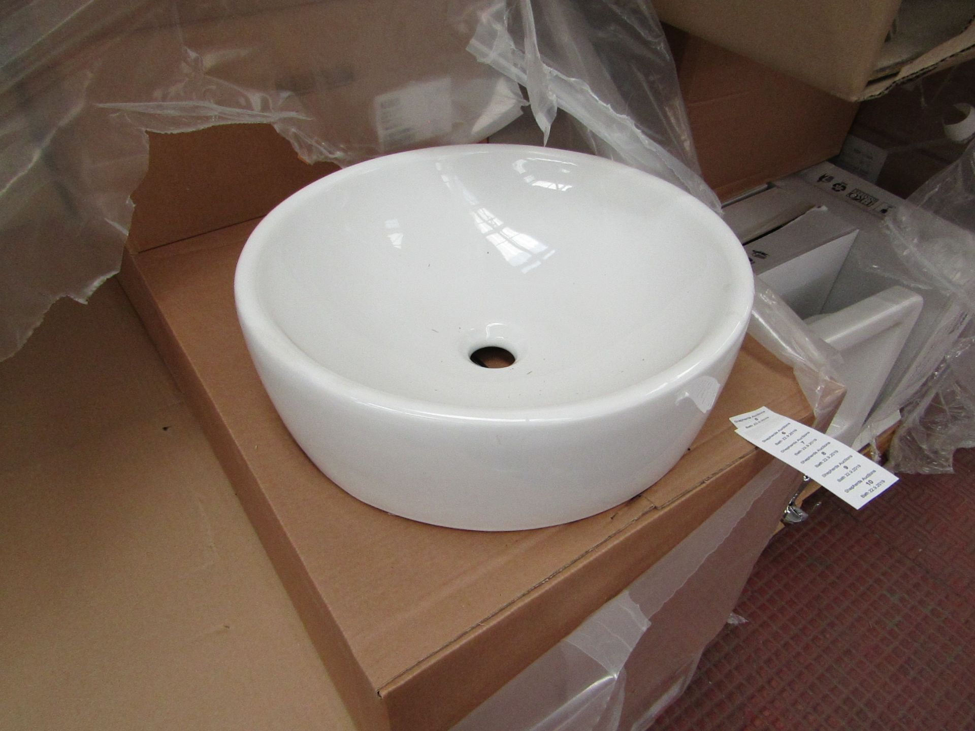 Lotto 9 - Nabis 45cm circular counter top sink, new and boxed