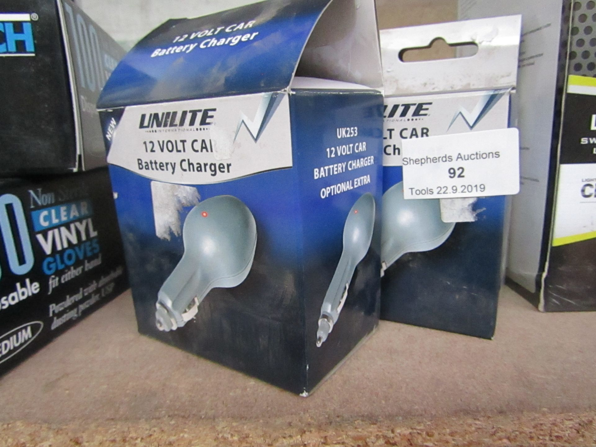 Lot 92 - 2 x Unilite 12 Volt Car Battery Charger