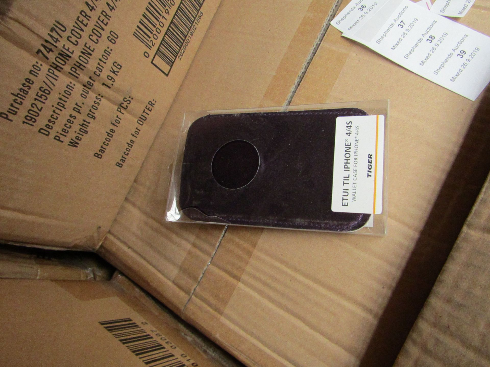 Lot 39 - 60x iPhone 4/4S covers, all new and boxed.
