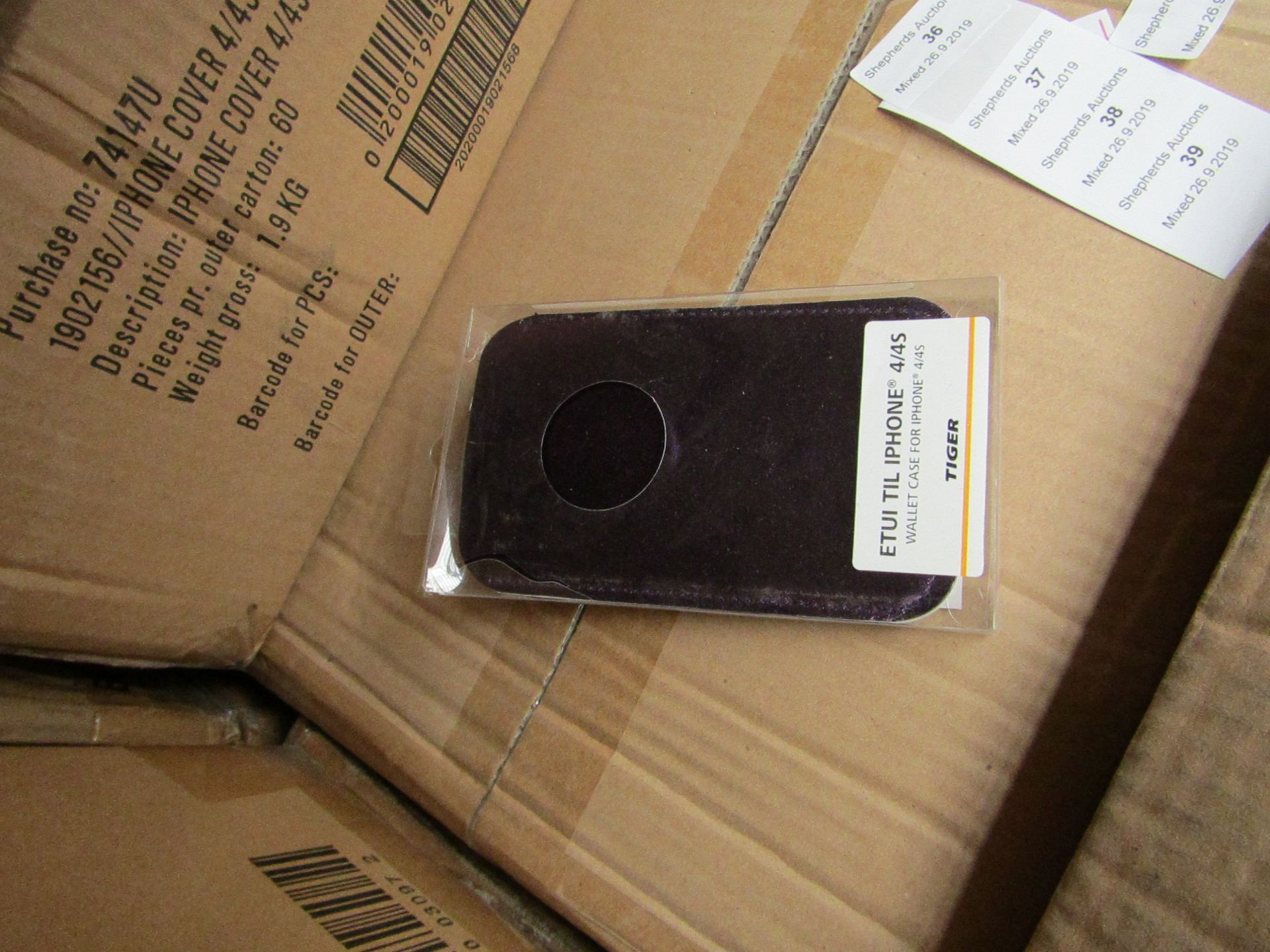 Lot 38 - 60x iPhone 4/4S covers, all new and boxed.