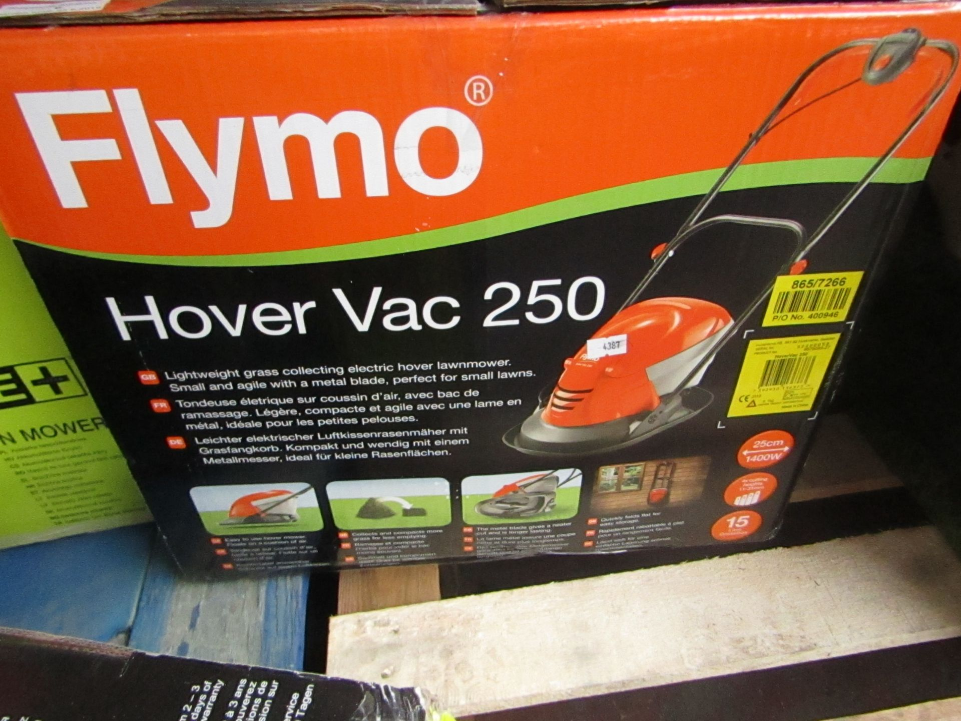 Lotto 6 - Flymo Hover vac 250, tested working and boxed, RRP œ75