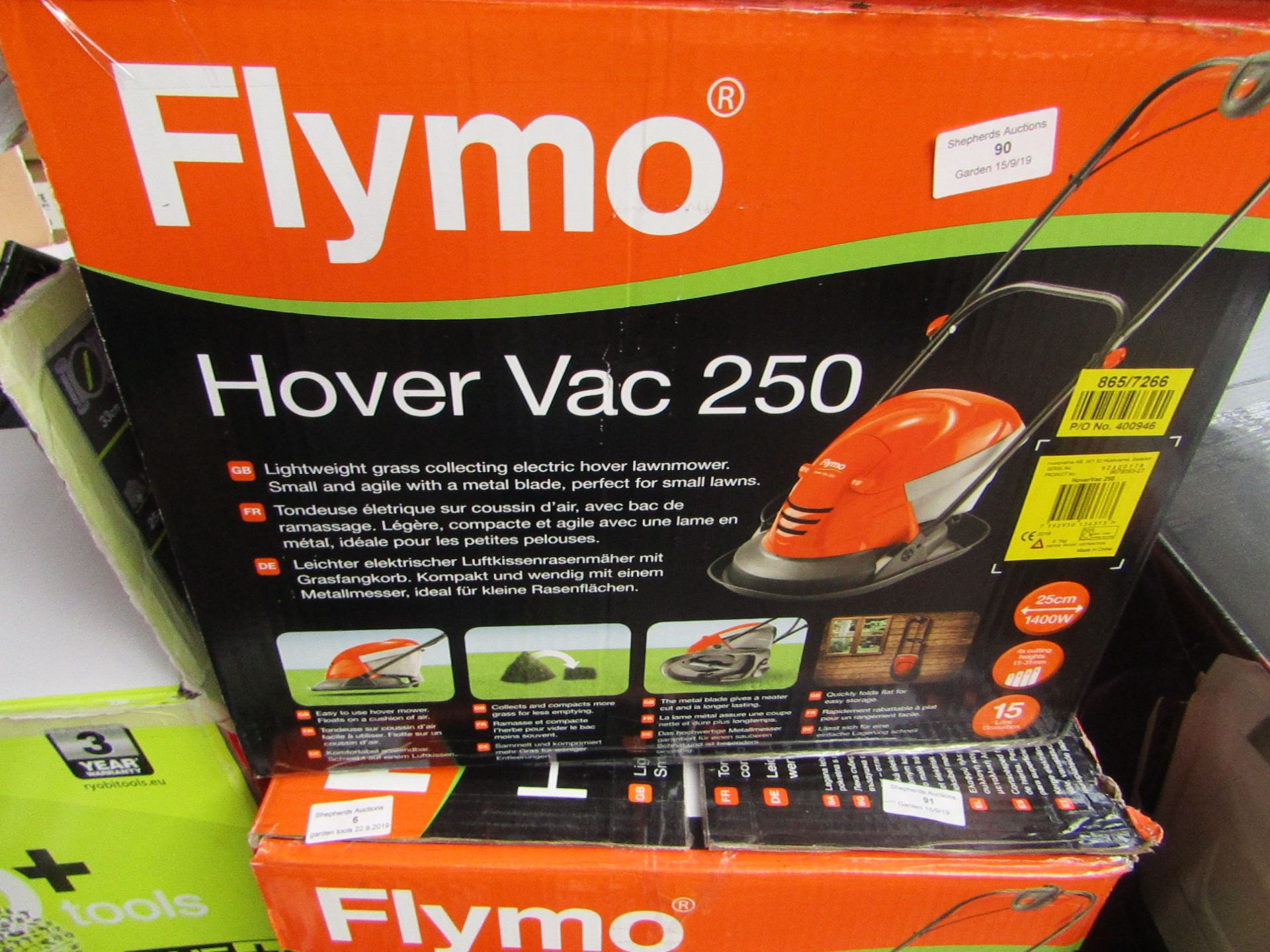 Lotto 5 - Flymo Hover vac 250, tested working and boxed, RRP œ75