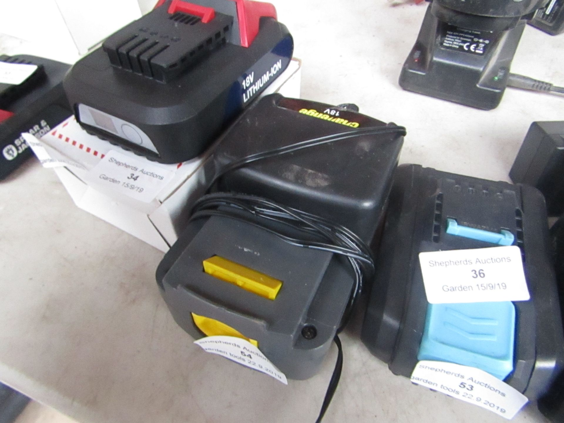 Lotto 54 - Challenge 18V Battery and Charger, unchecked