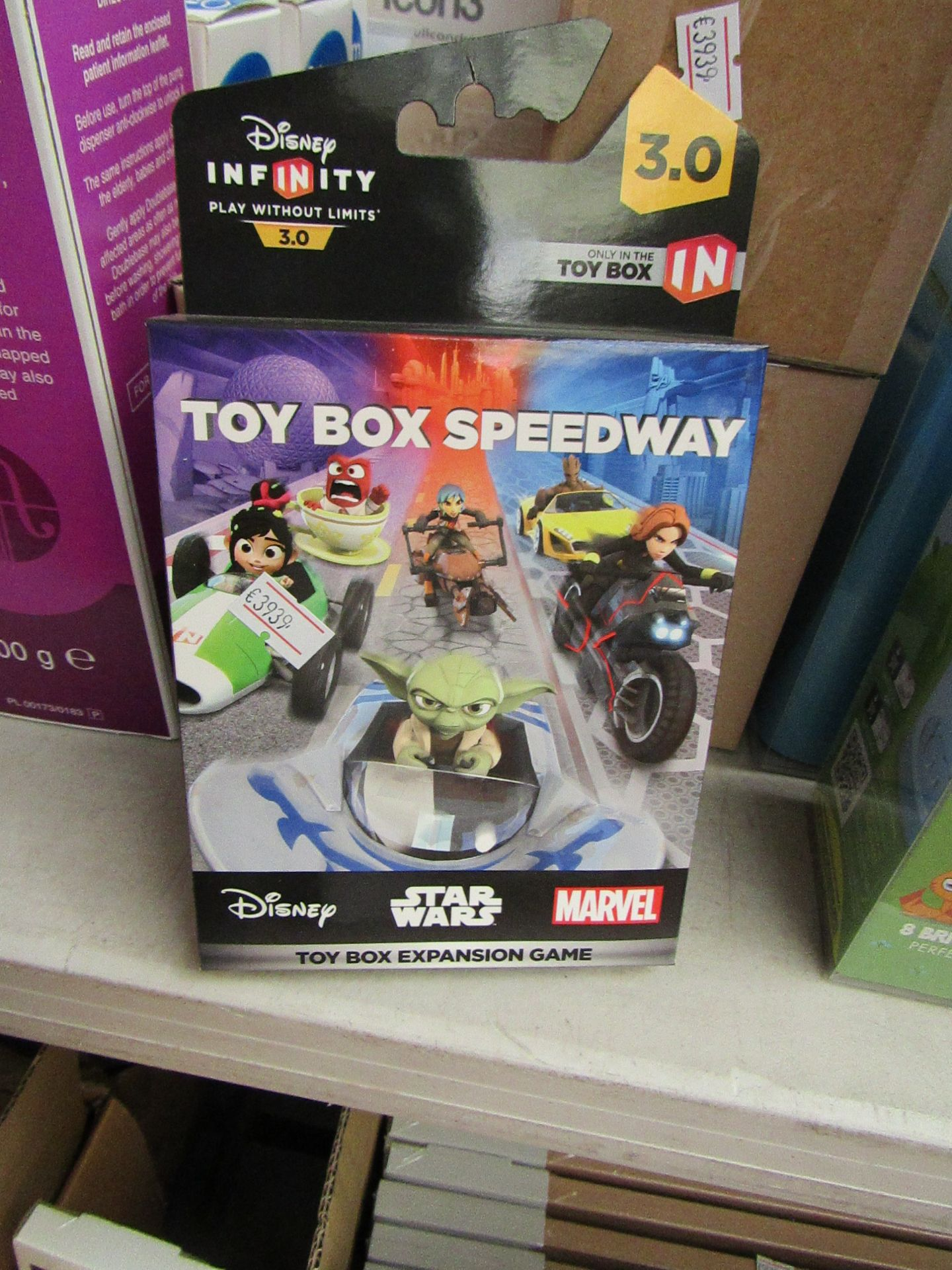 Lot 51 - 6x Disney Infinity 3.9 toy box expansion game, all new and boxed.