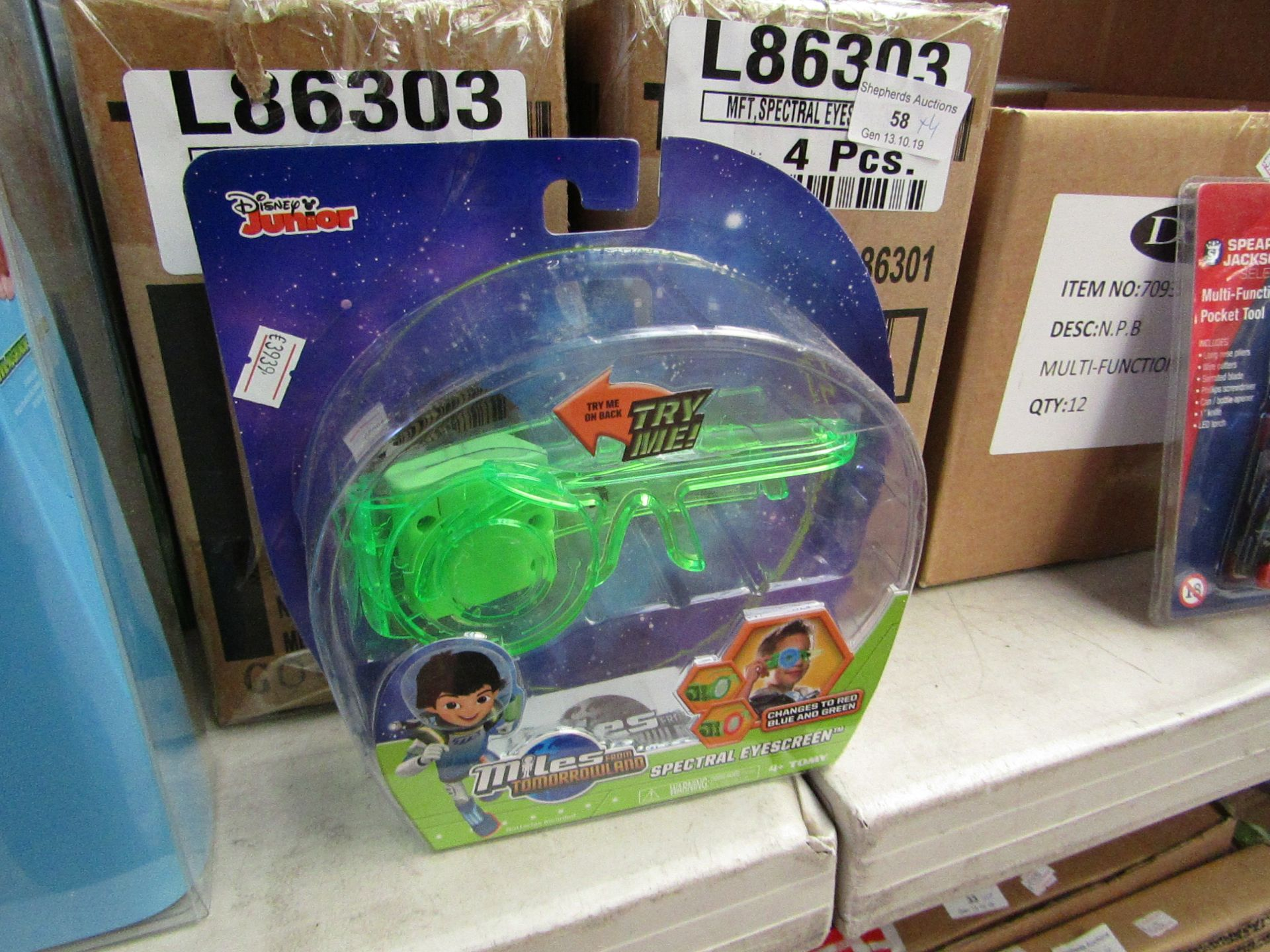 Lot 58 - 4x Miles from Tomorrowland spectral eye screen, all new and packaged.