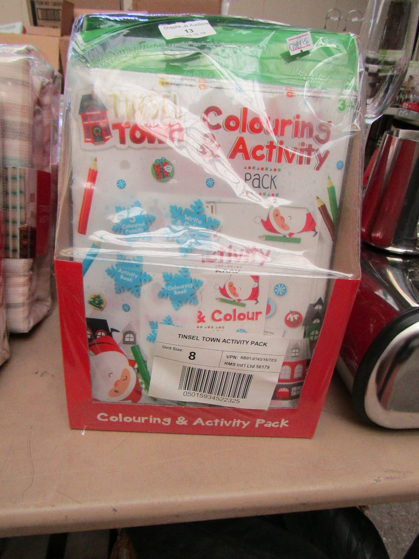Lot 16 - 8x Tinsel Town activity packs, all new and packaged.