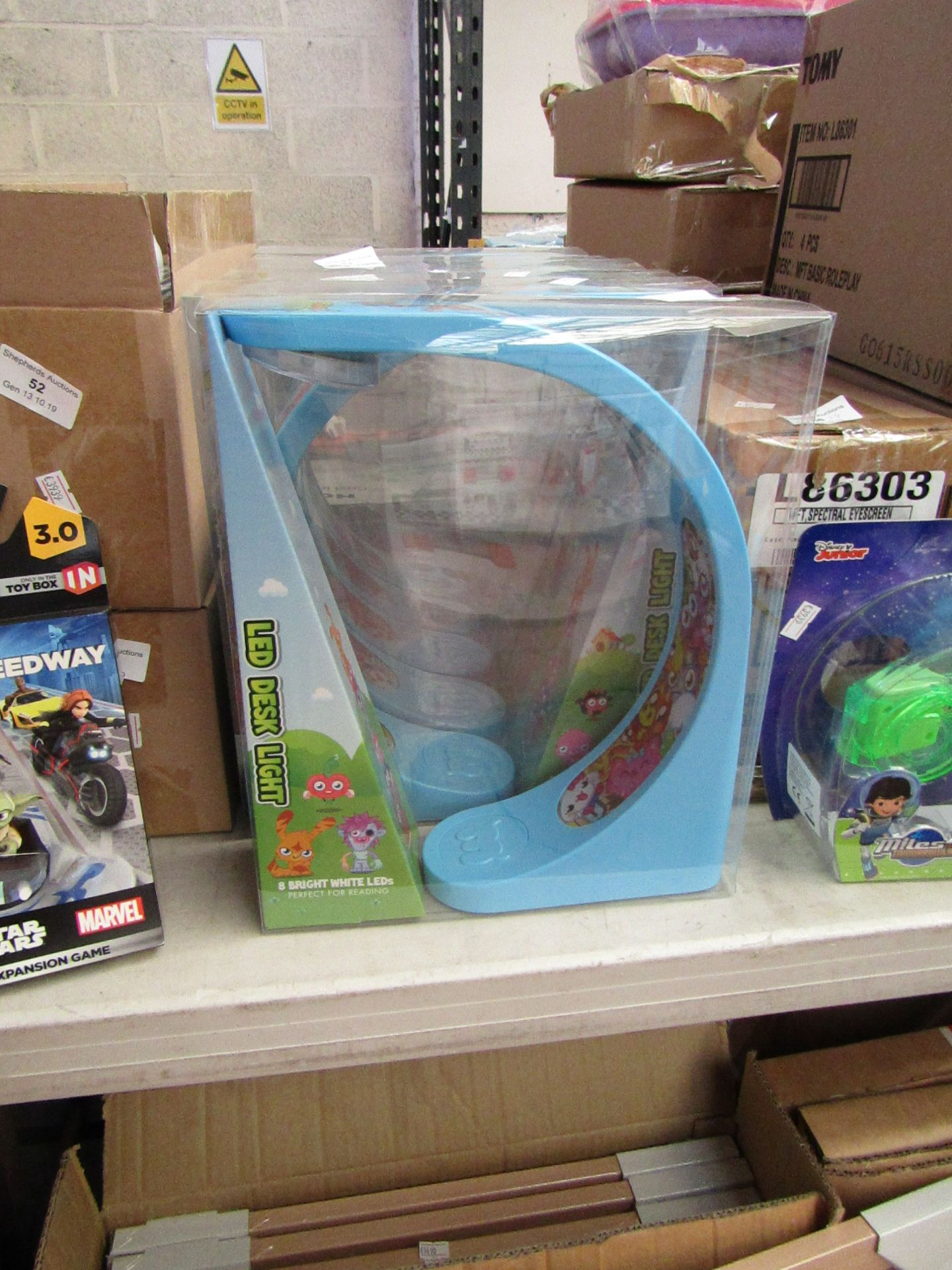 Lot 54 - 3x Moshi Monsters LED desk lights, all new and packaged.