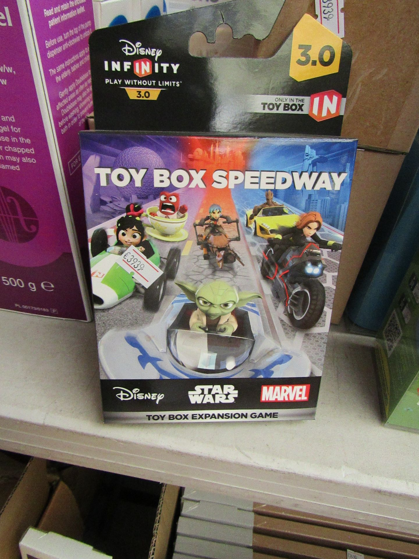 Lot 53 - 6x Disney Infinity 3.9 toy box expansion game, all new and boxed.