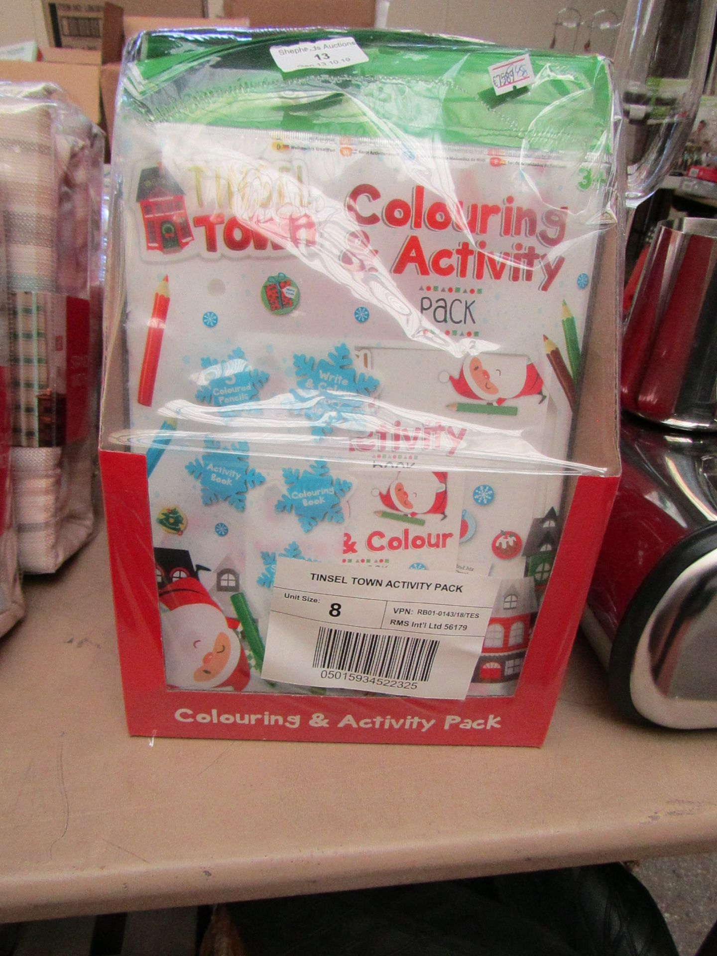 Lot 15 - 8x Tinsel Town activity packs, all new and packaged.