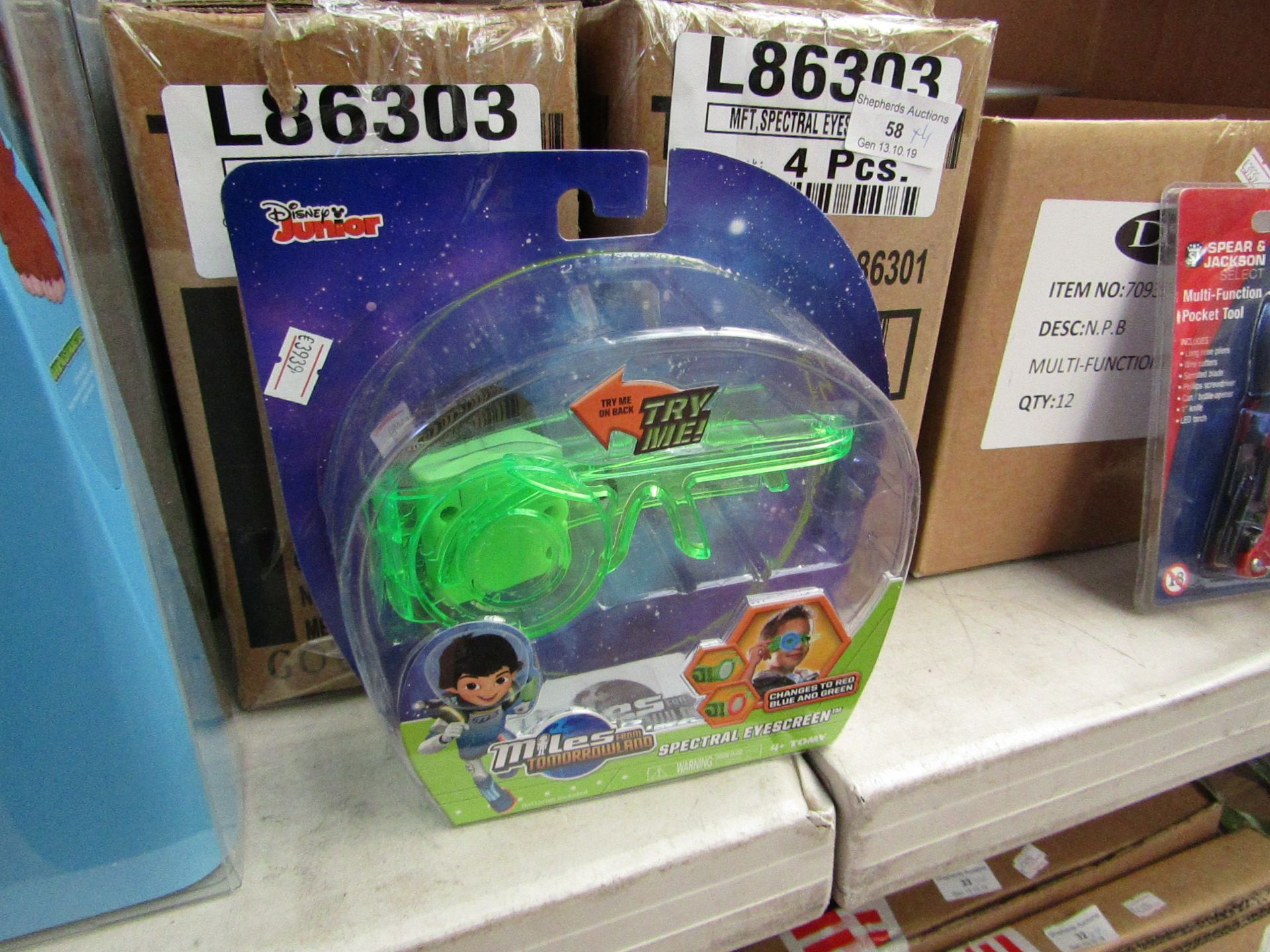 Lot 56 - 4x Miles from Tomorrowland spectral eye screen, all new and packaged.