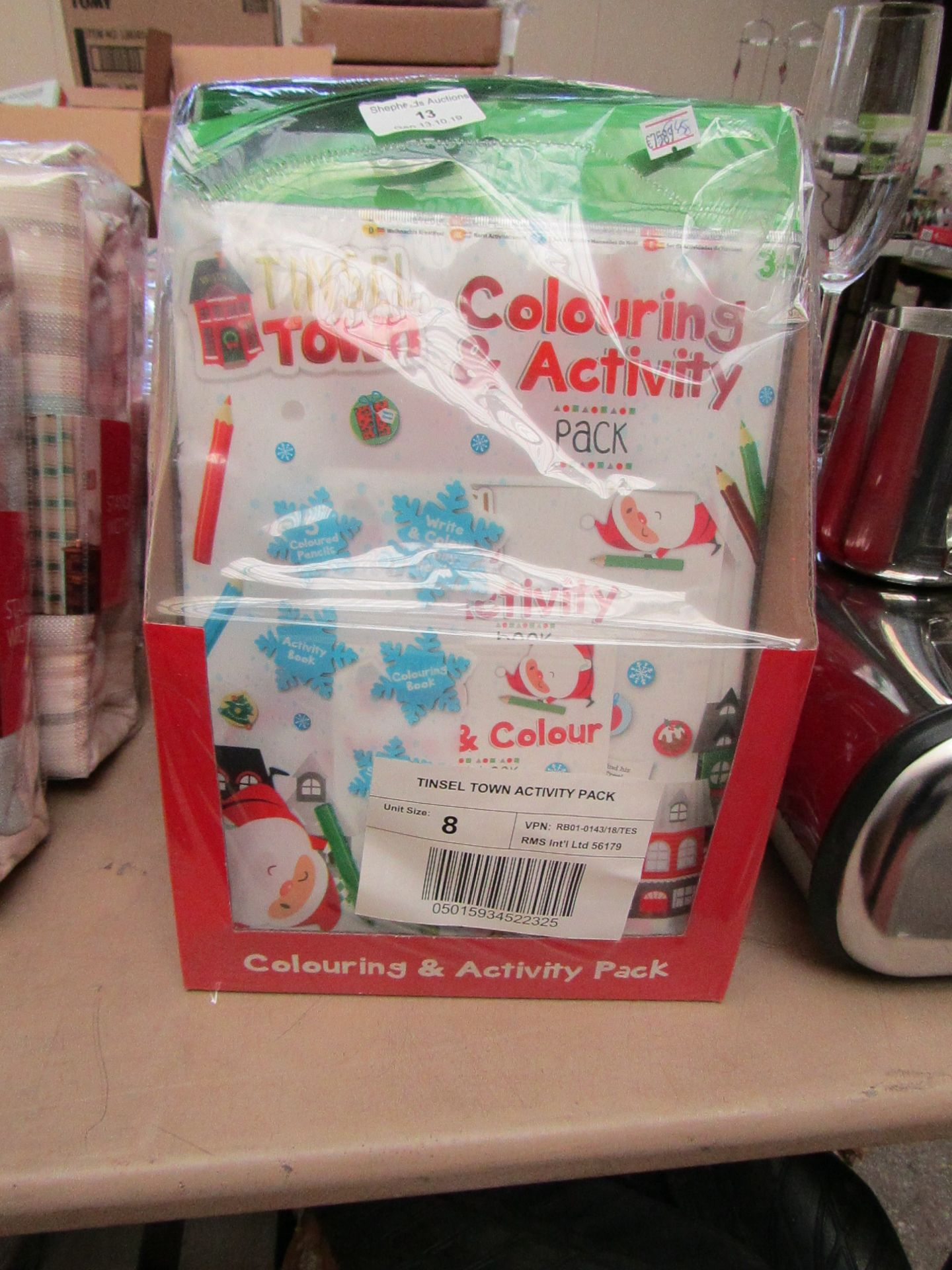 Lot 14 - 8x Tinsel Town activity packs, all new and packaged.