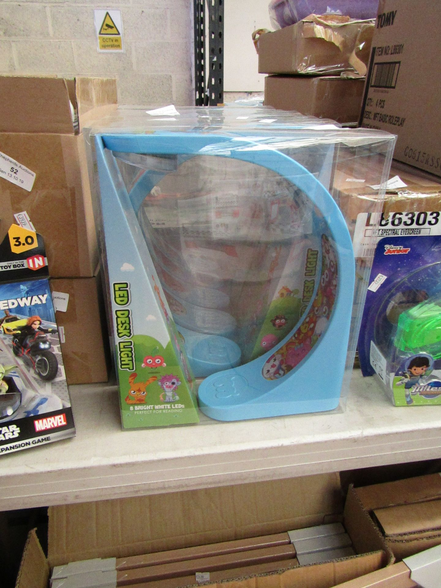 Lot 55 - 3x Moshi Monsters LED desk lights, all new and packaged.