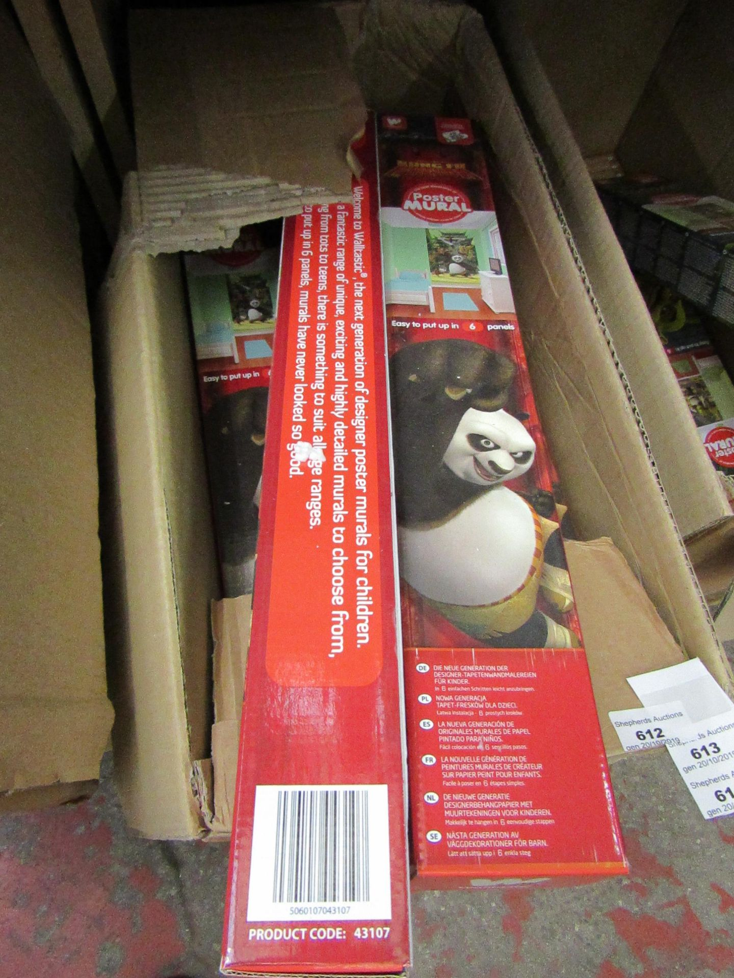 Lot 612 - Kung Fu Panda poster mural, new and boxed.