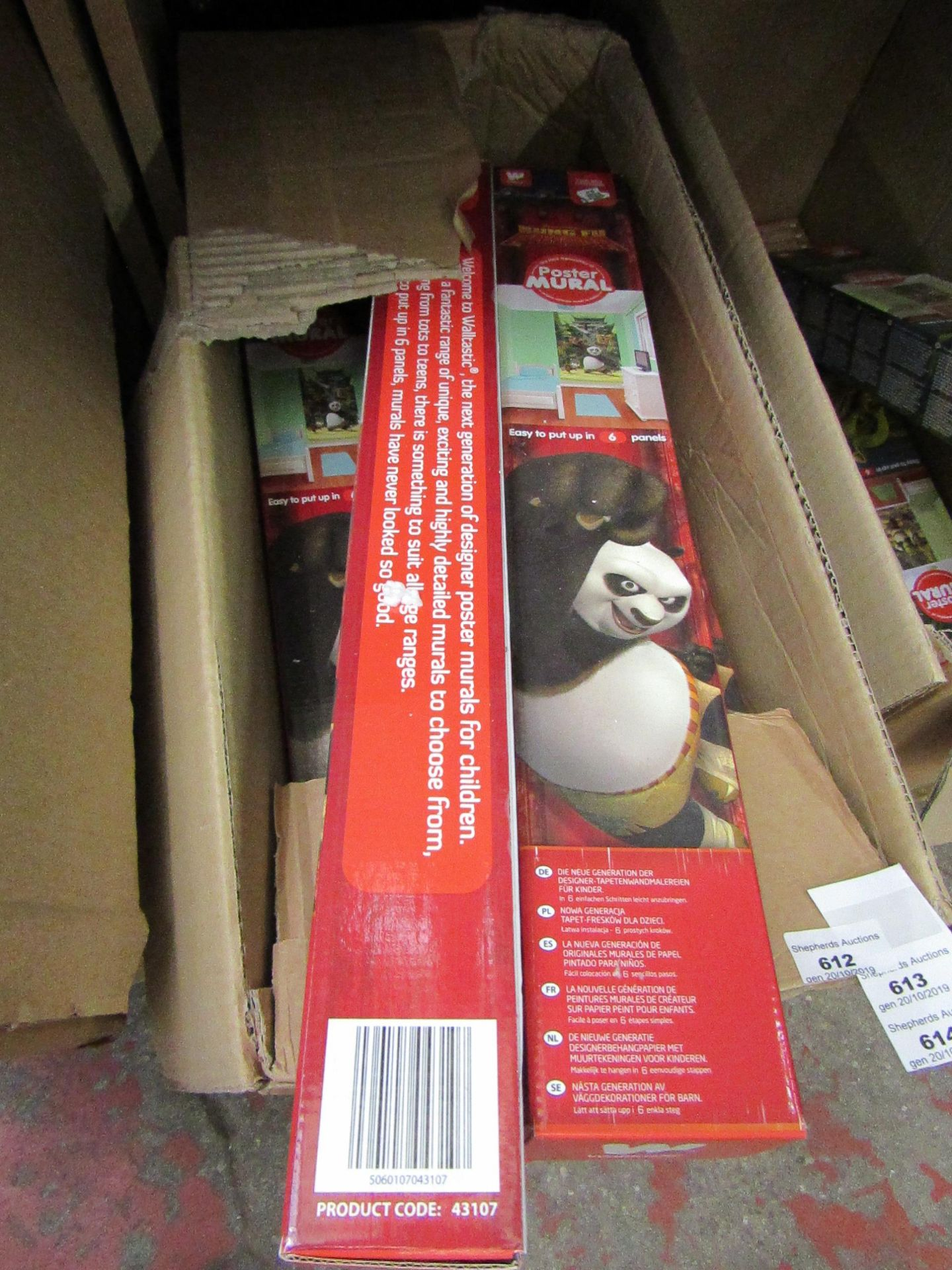 Lot 614 - Kung Fu Panda poster mural, new and boxed.