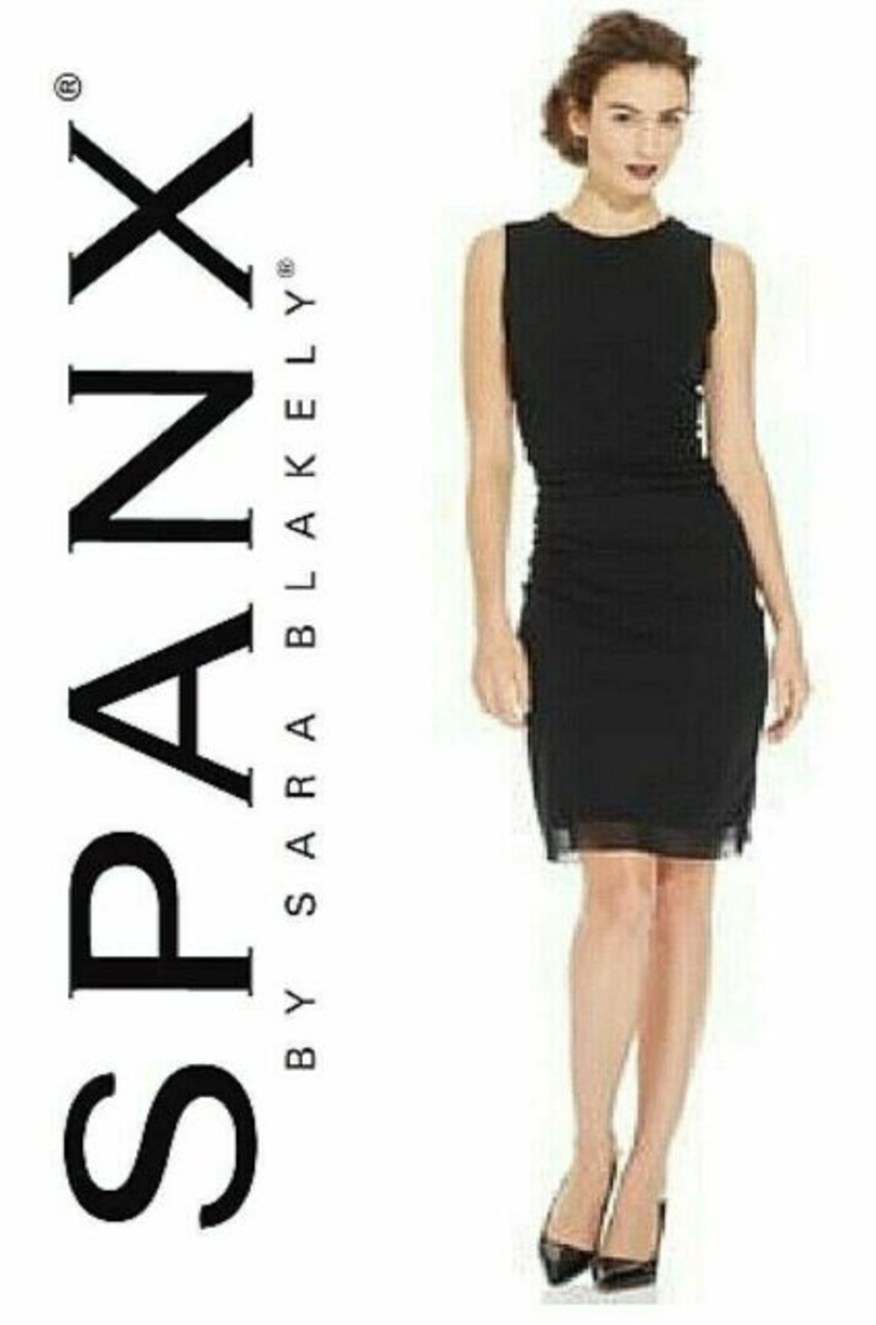 Lot 595 - Spanx Star Power Bold Black Draped Dress size S (8/10) RRP £35.99 on Amazon new with tag & packaged