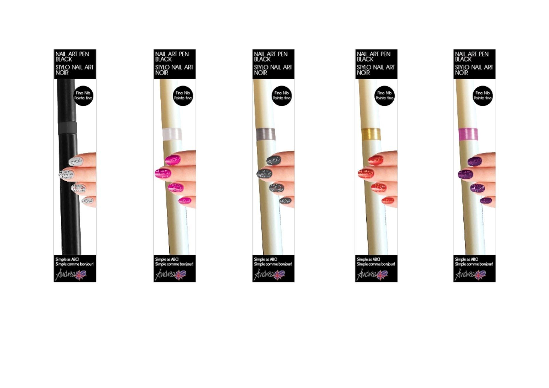 Lot 15A - 100 Andrea Fulerton Nail Art Pens – NO VAT  Brand New – Mixed Shades- Individually Boxed  UK