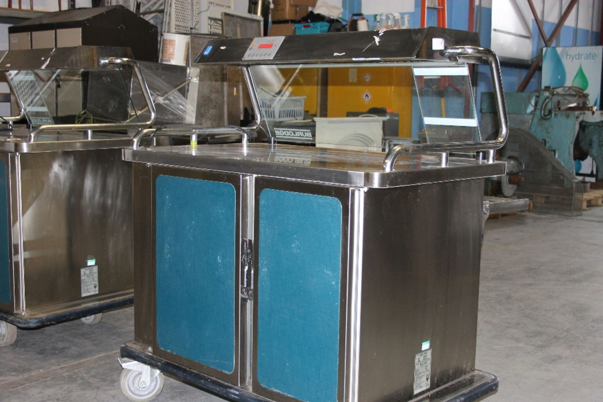 Lot 48 - Burlodge Multigen M22.100 Mobile Server with heated gantry and under tray storage to rear on one