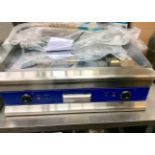 Lot 16A - New & Boxed thick Chrome plated Electric Hot Plate / Griddle  750mm – 2x13amp plugs – NO VAT